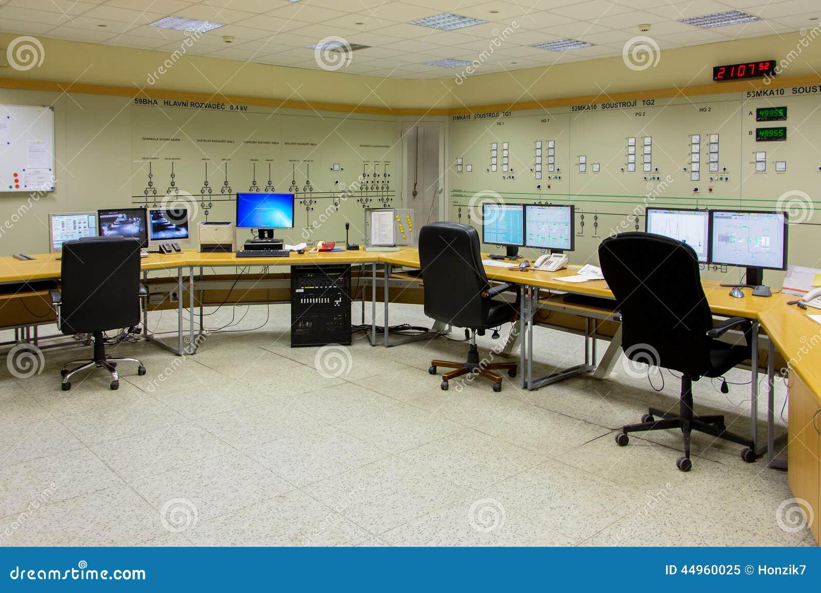 Elektrownia kontrolny pokój