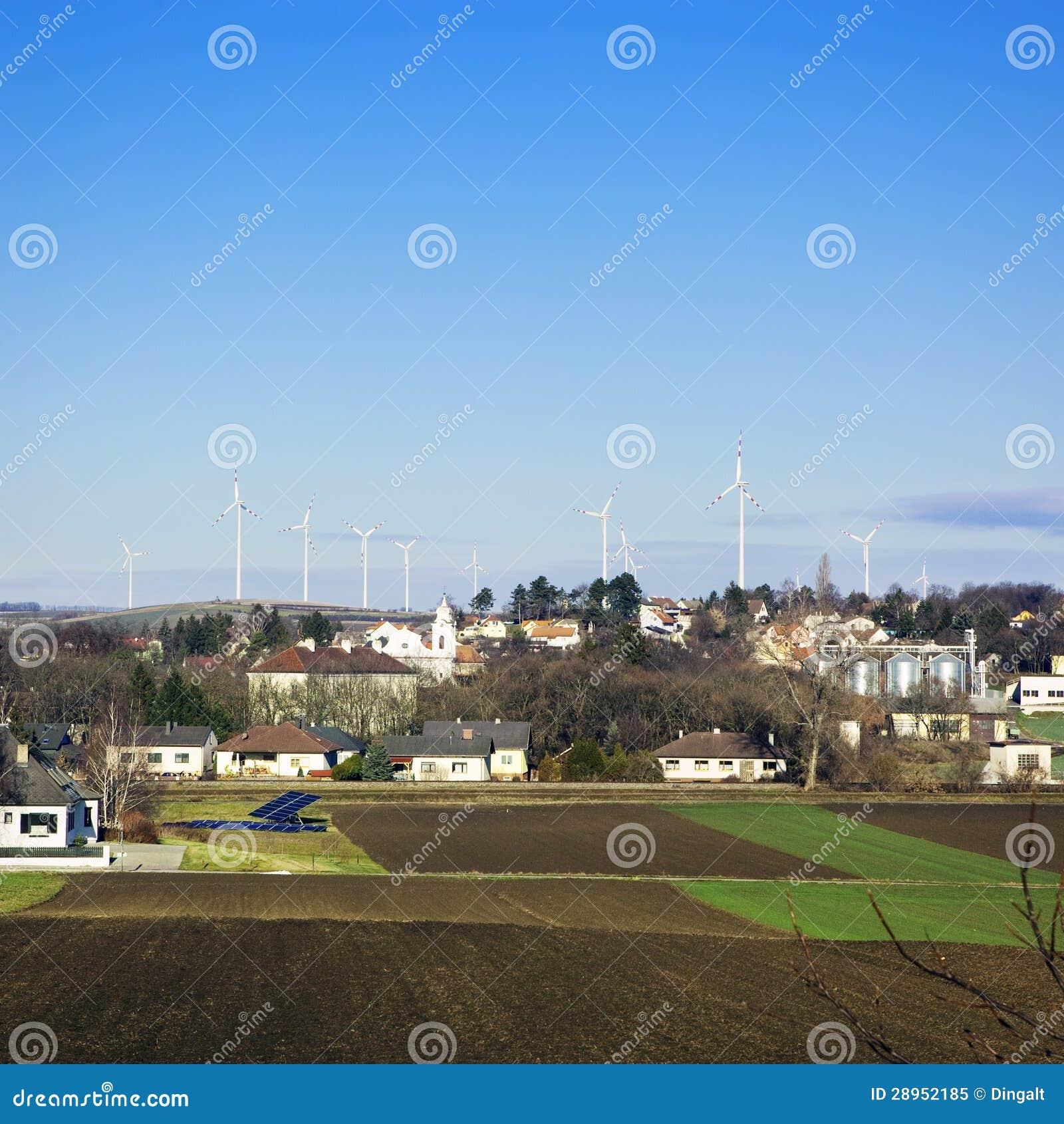 Elektrownia - wiatrowy gospodarstwo rolne