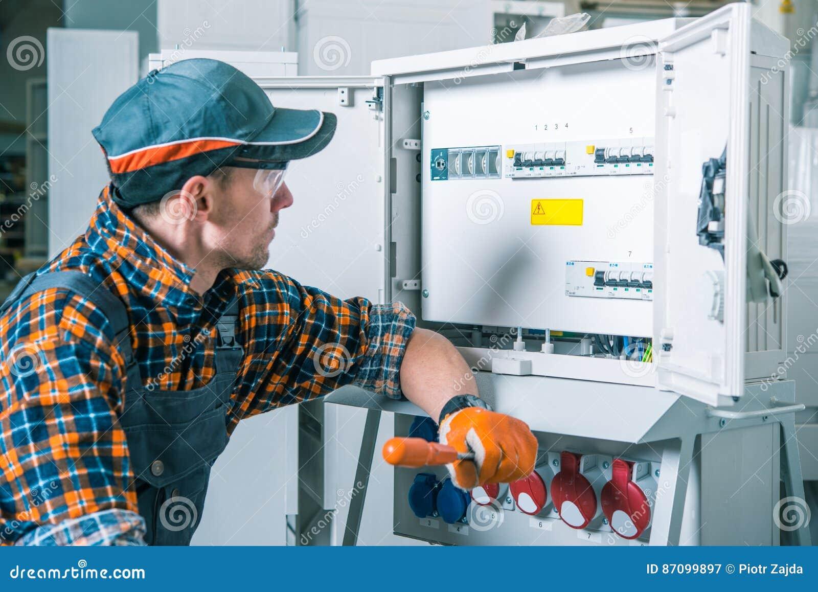 Elektryczna pracownik praca