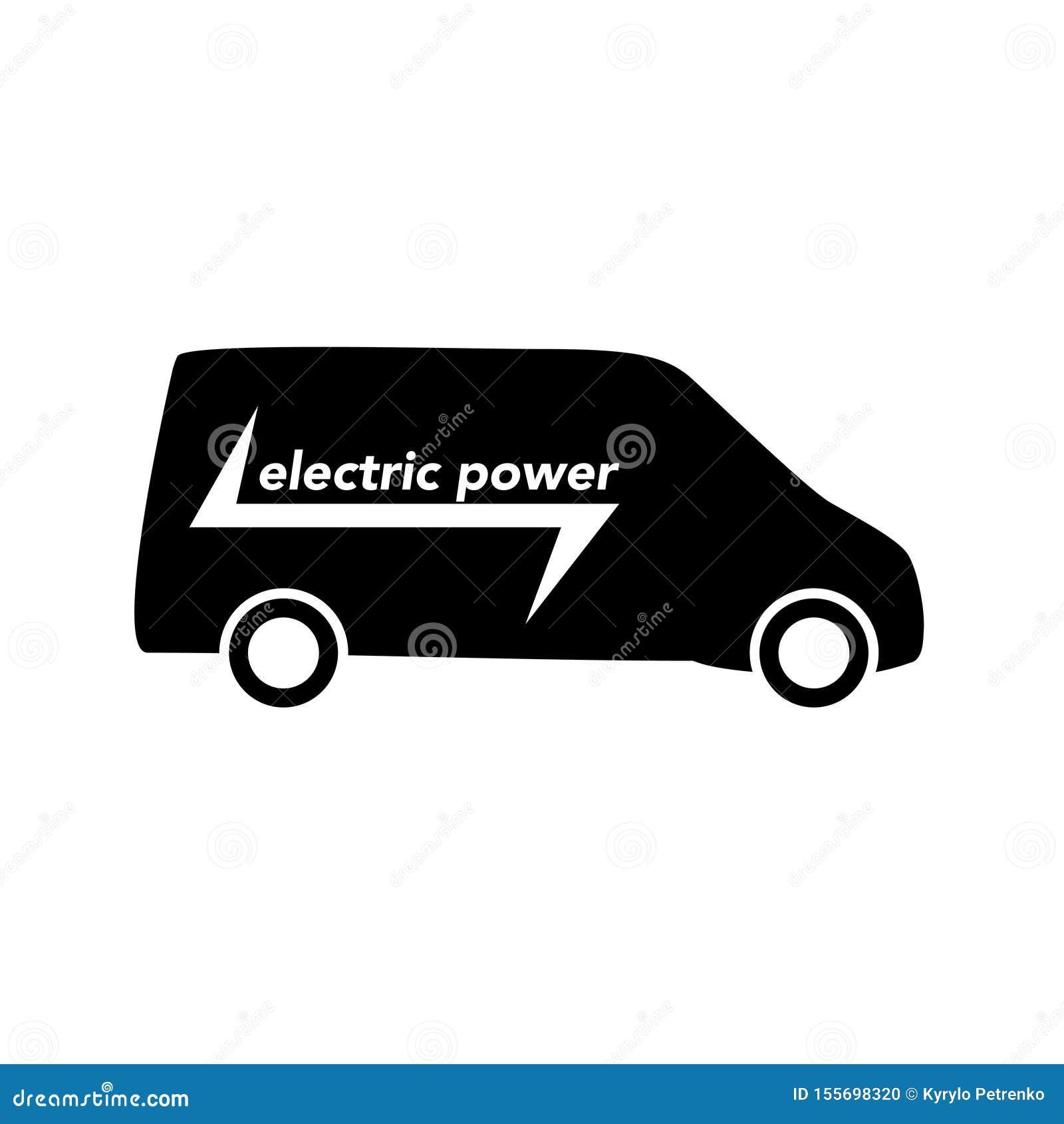 Elektrycznej eco pojazdu ikony tła biały wektor