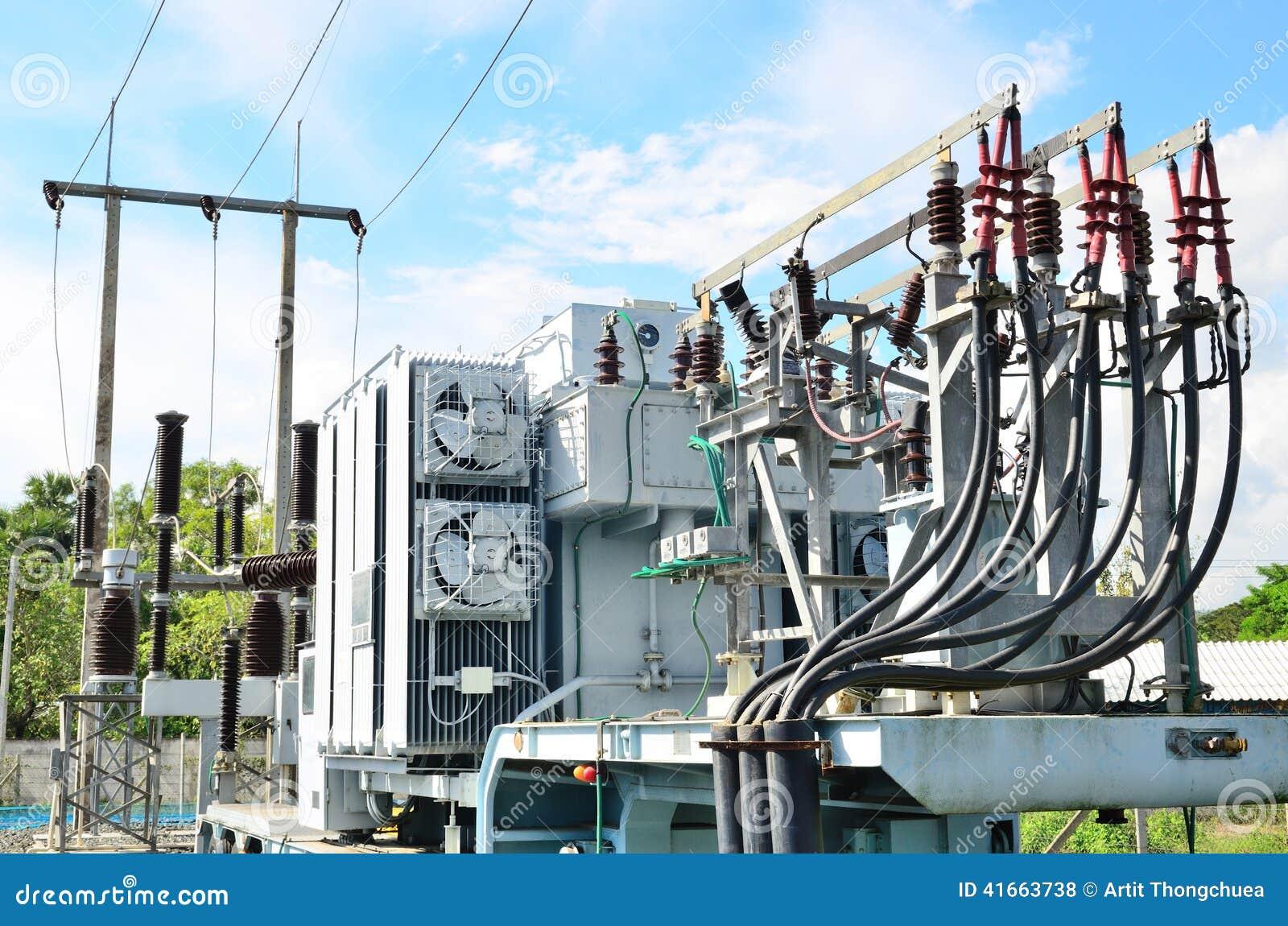 Elektrycznej władzy transformator w podstaci