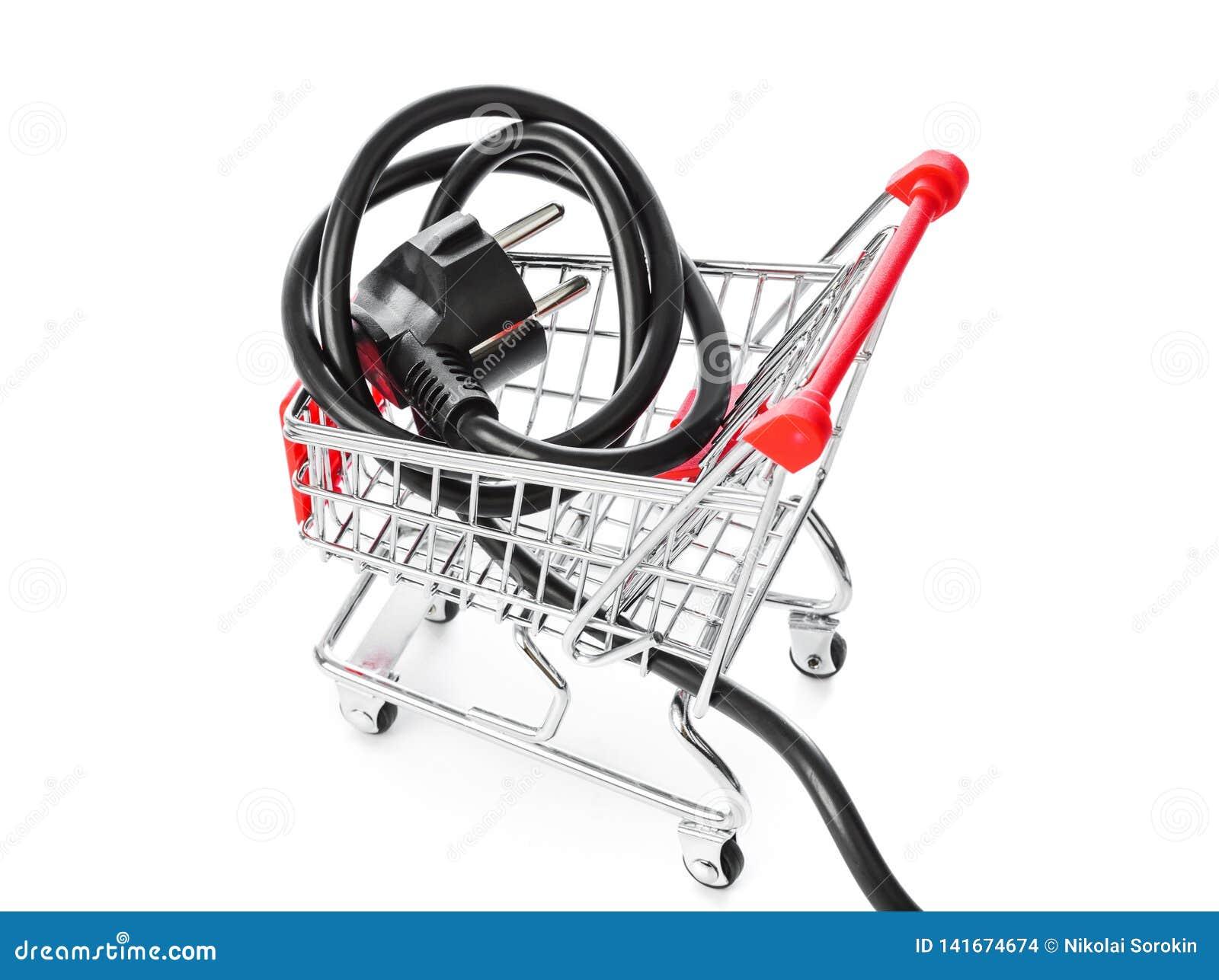 Elektryczny czopuje wewnątrz wózek na zakupy