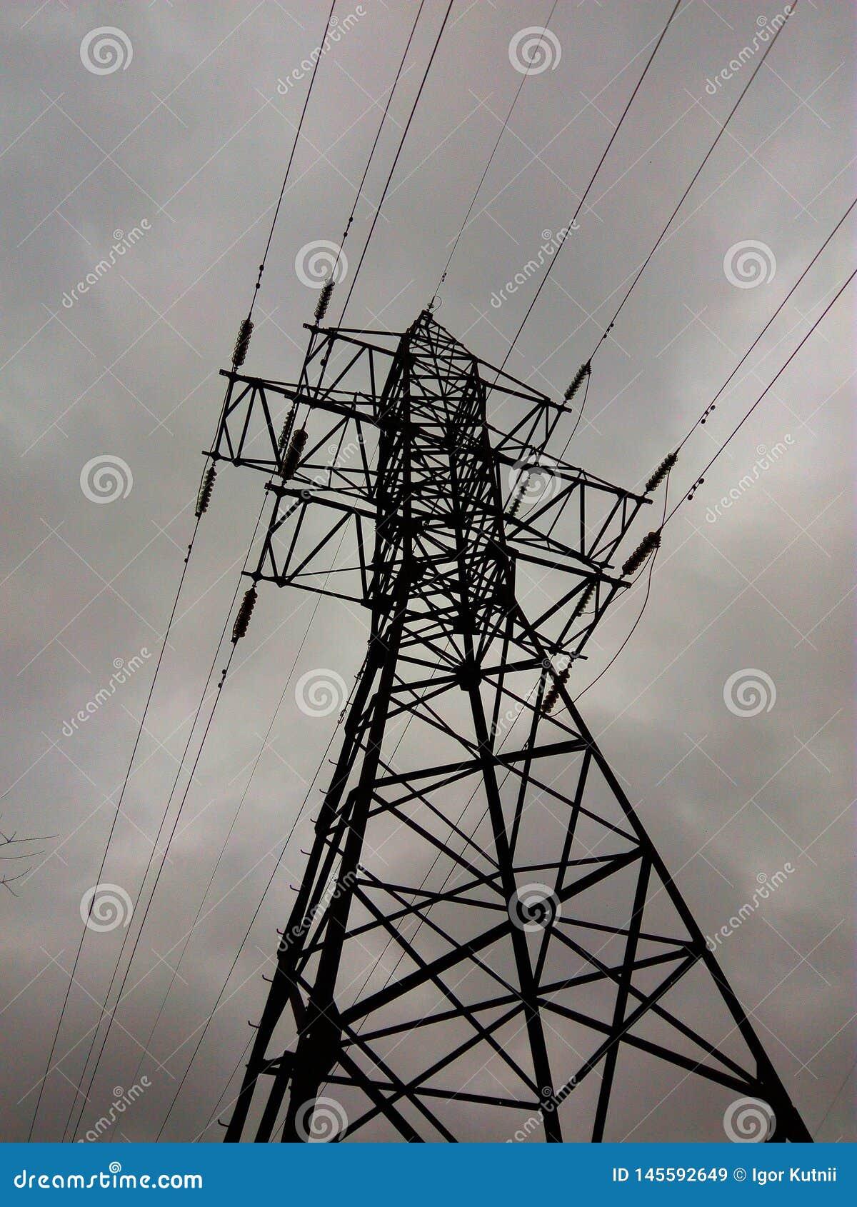 Elektryczny linii energetycznej poparcie