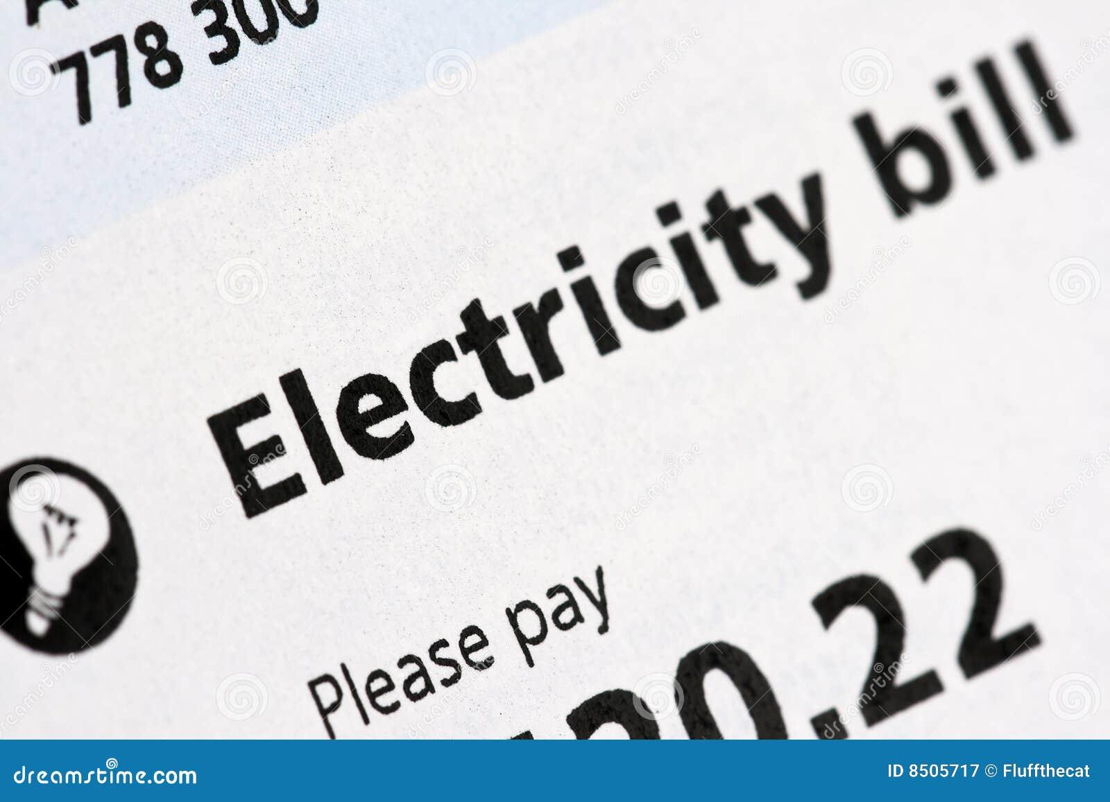Elektryczny rachunku oświadczenie