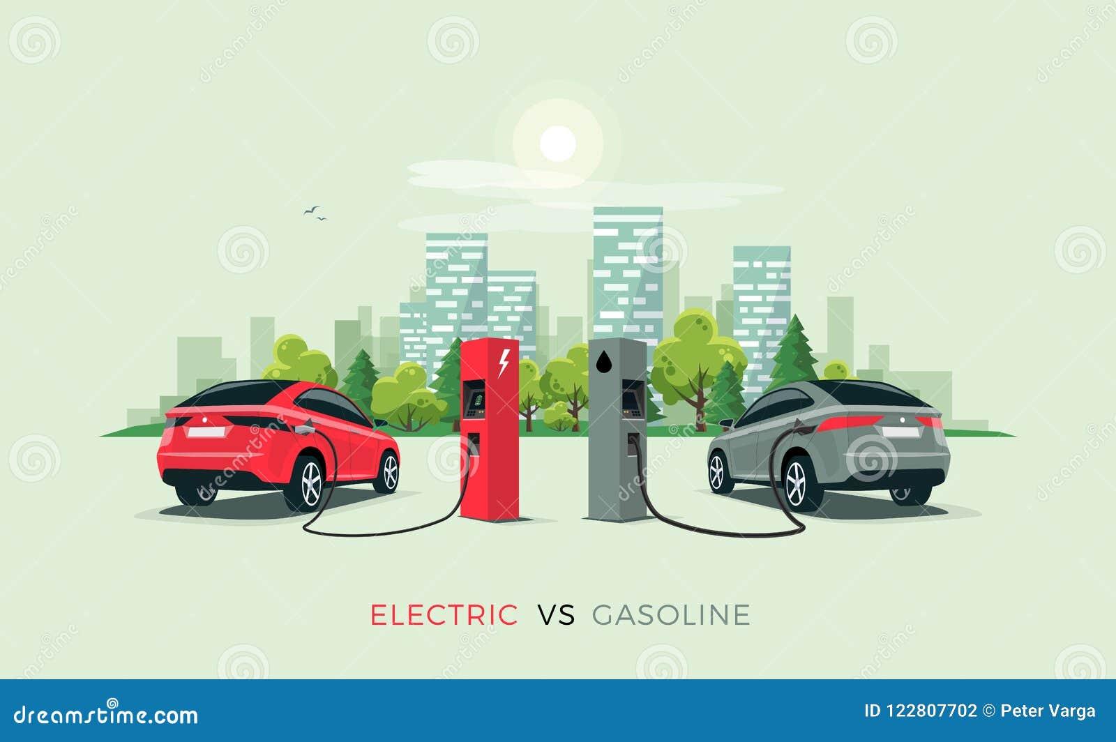 Elektryczny samochód Versus benzyna samochód