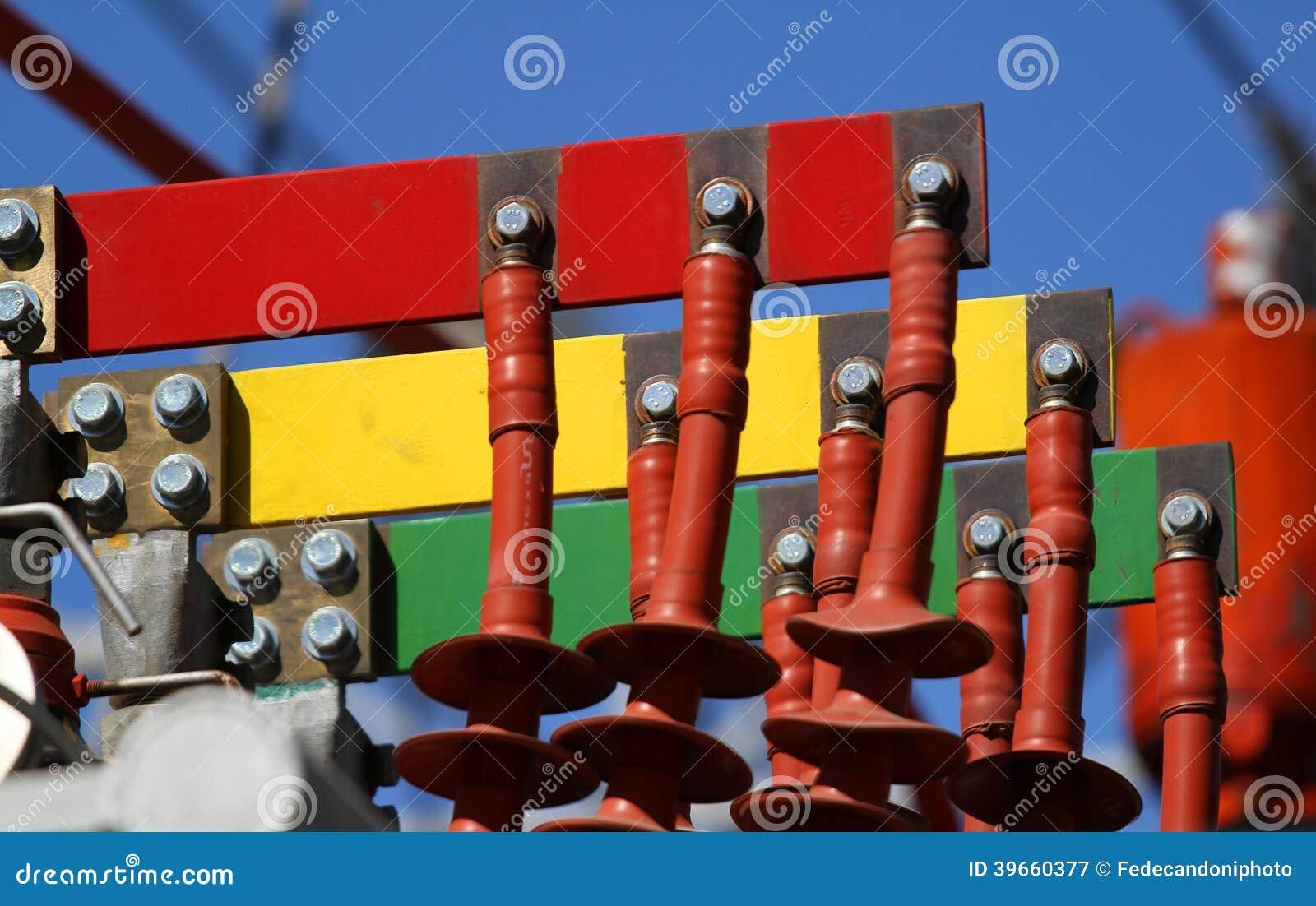 Elektrycznych włączników rewolucjonistki kolor żółty dla związku thr i zieleń