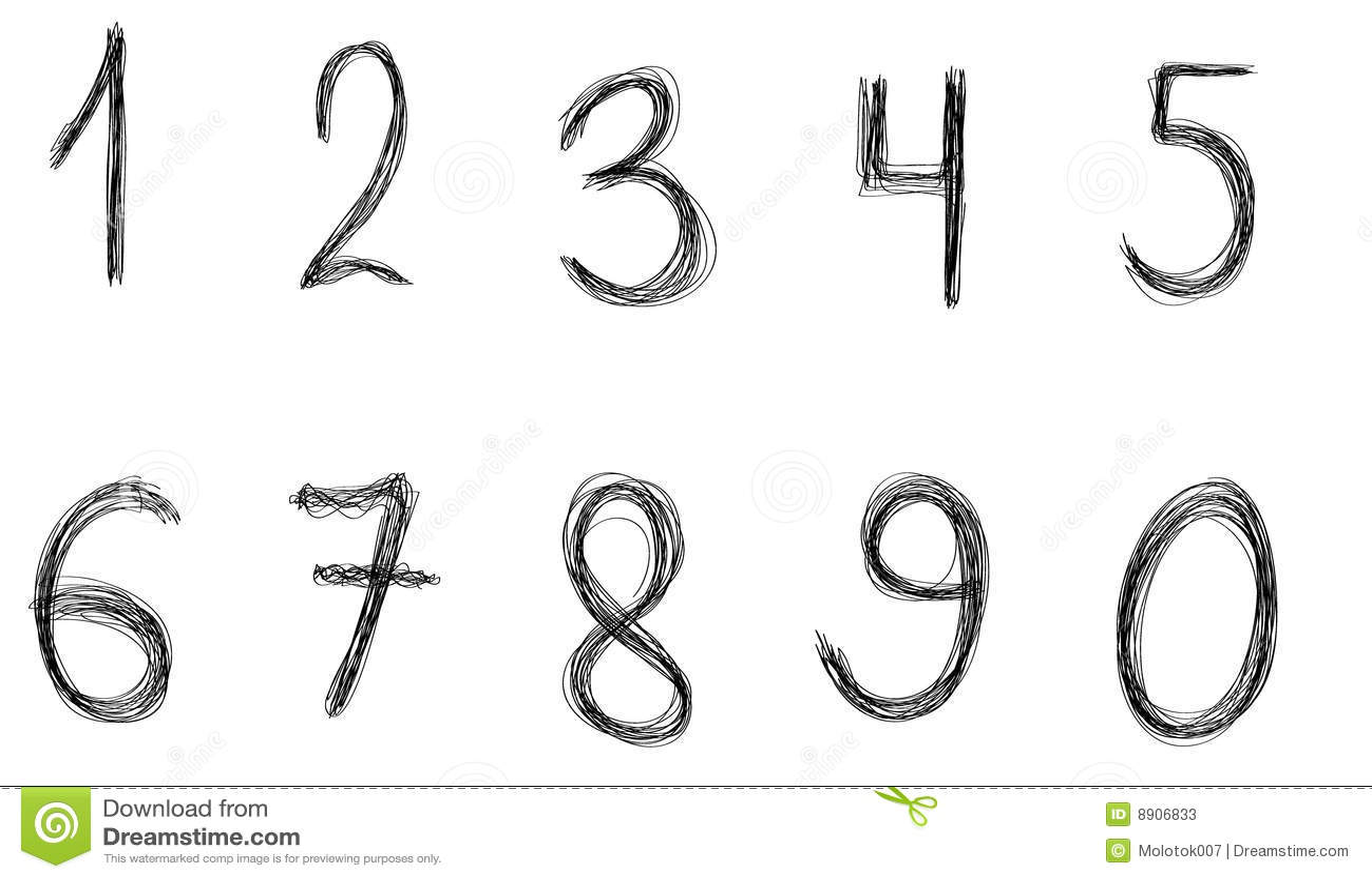Elementów graficzny liczb wektor