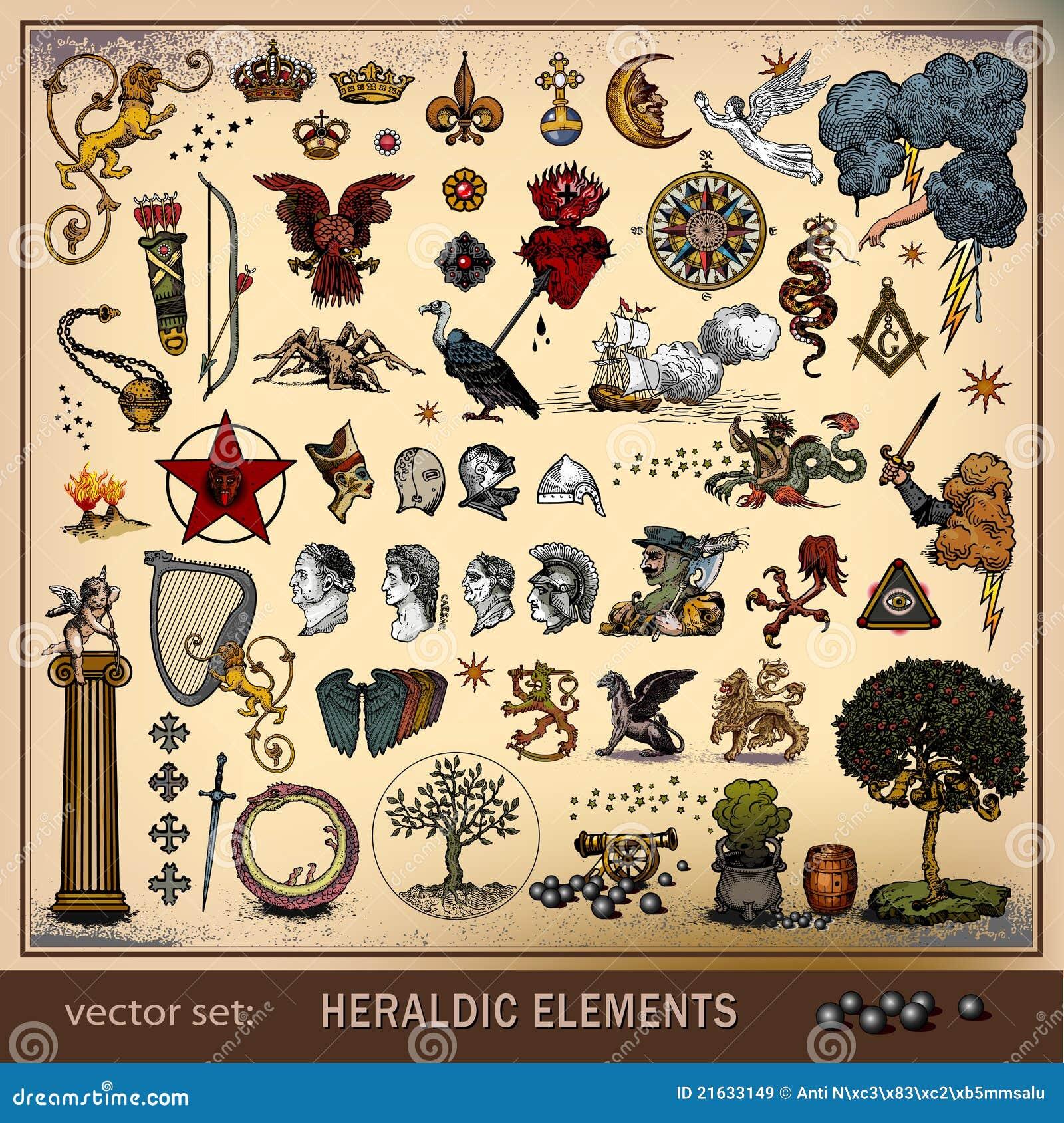 Elementów heraldyczny setu wektor