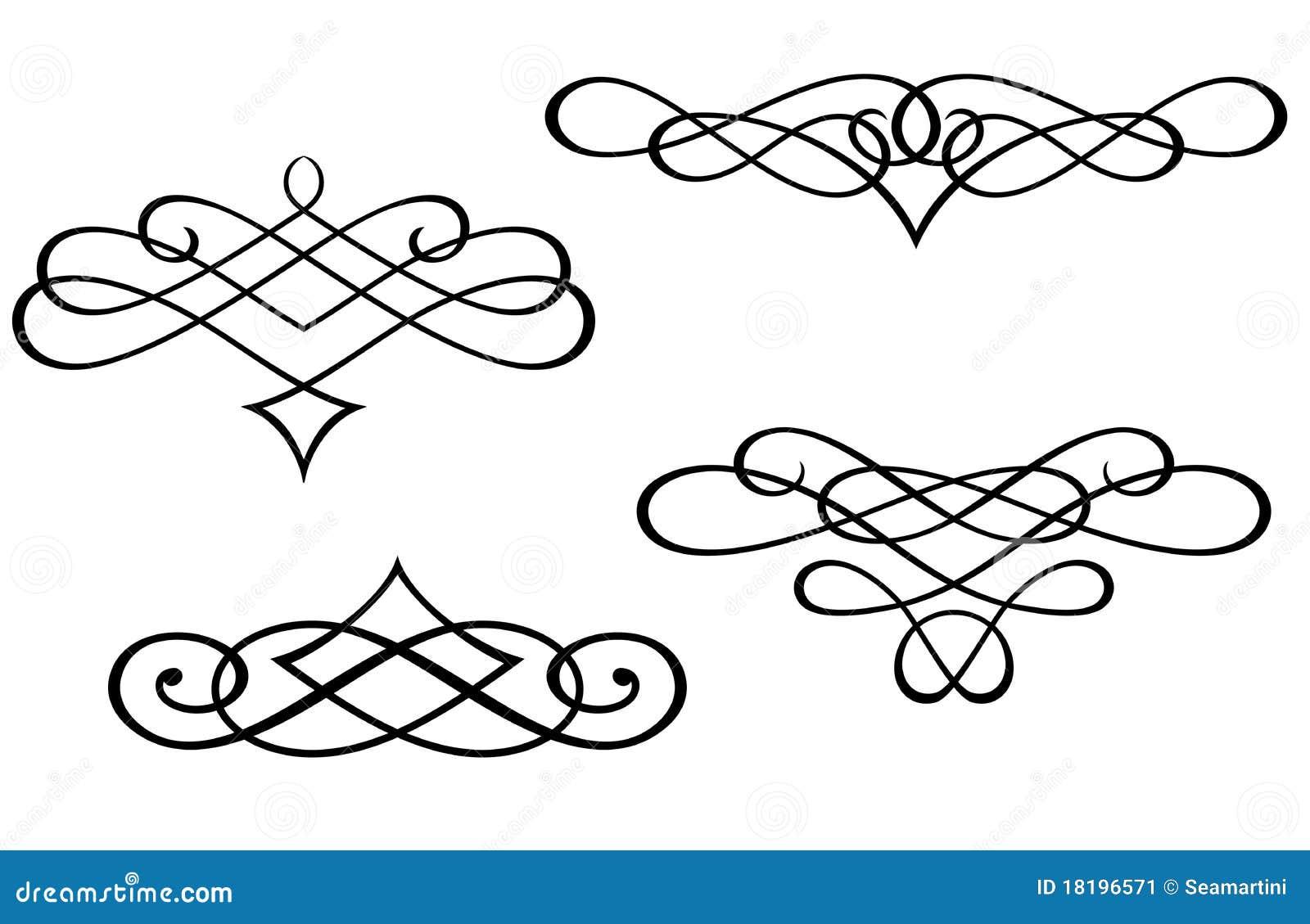 Elementów monogramów zawijas