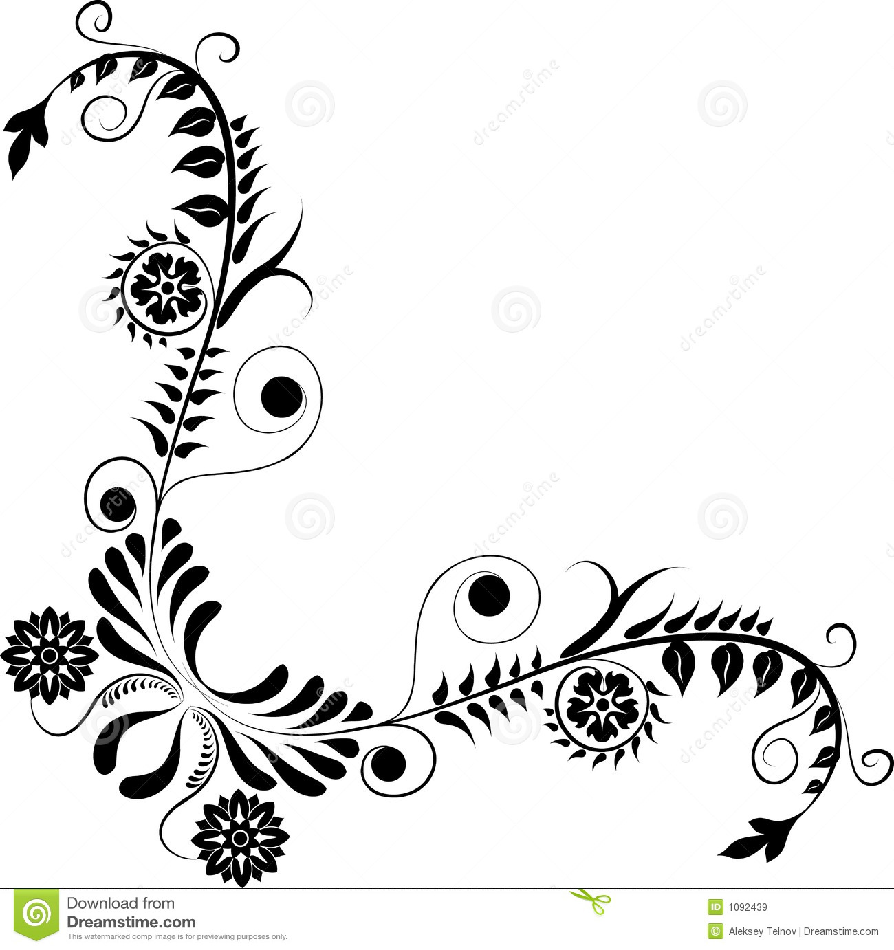 Black and white abstract flower designs pictures