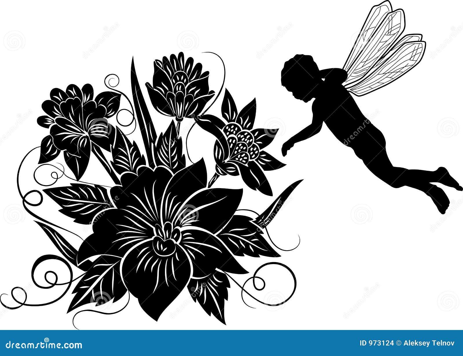 Set of flower design elements stock vector illustration of petal element for design flower with silhouette elf vector stock images altavistaventures Images