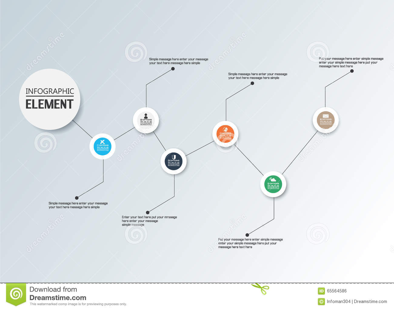 Element For Infographic Chart Template Geometric Figure Timeline – Element Chart Template