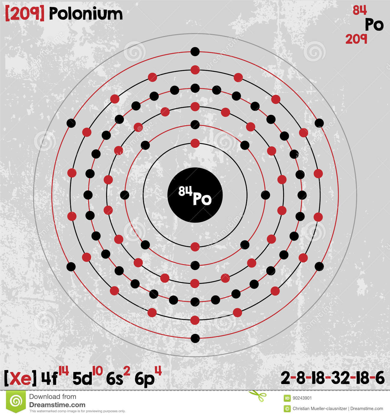 element of polonium stock vector illustration of color 90243901
