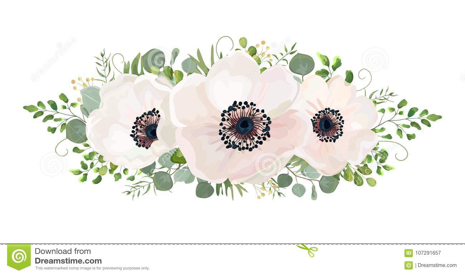 Element van het de waterverfontwerp van het bloemboeket het vector Perzik, roze whi