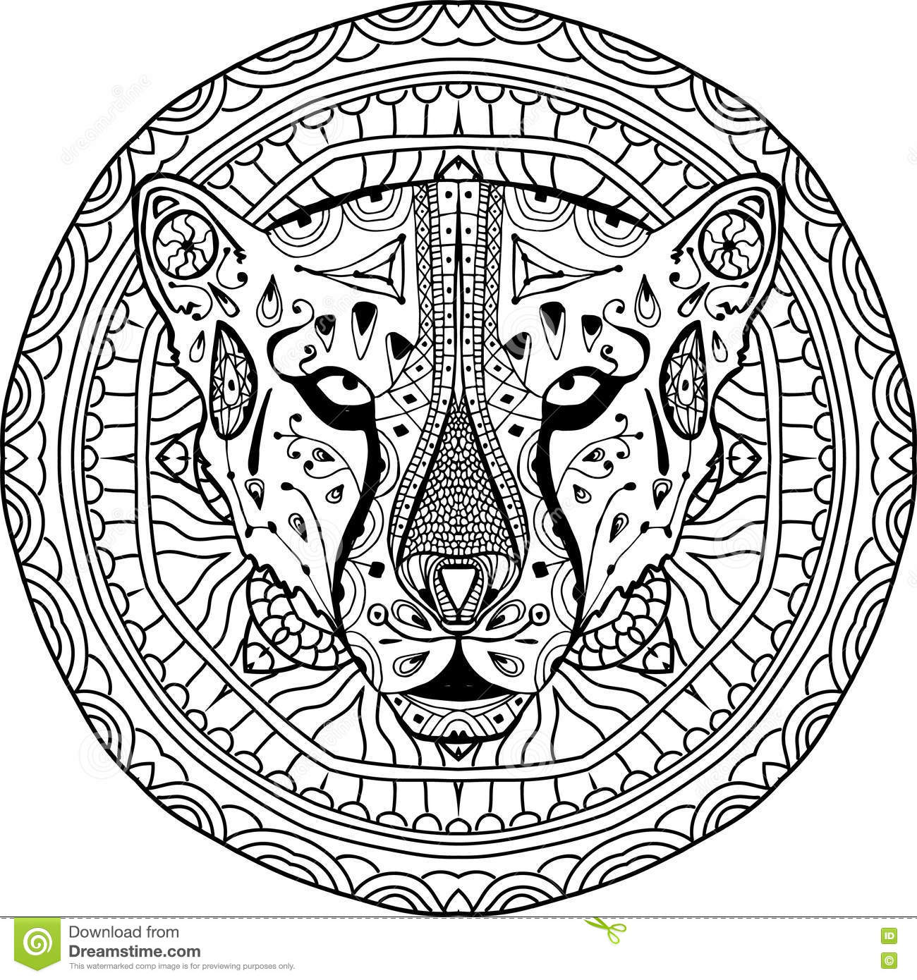 cheetah tattoo stock photography image 14784742