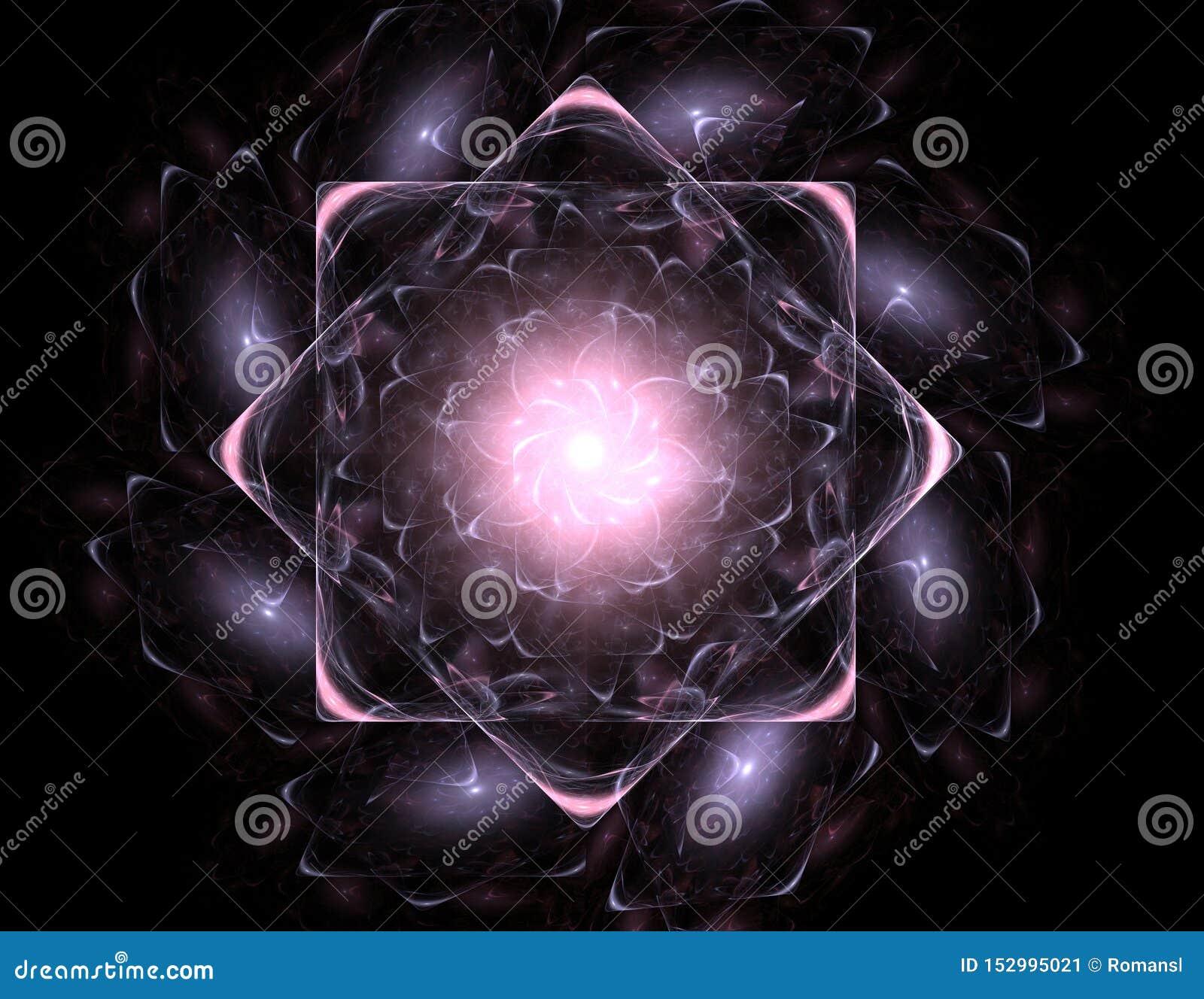 Elementaire Deeltjesreeks Interactie van abstracte fractal vormen voor wat betreft kernfysicawetenschap en grafisch ontwerp