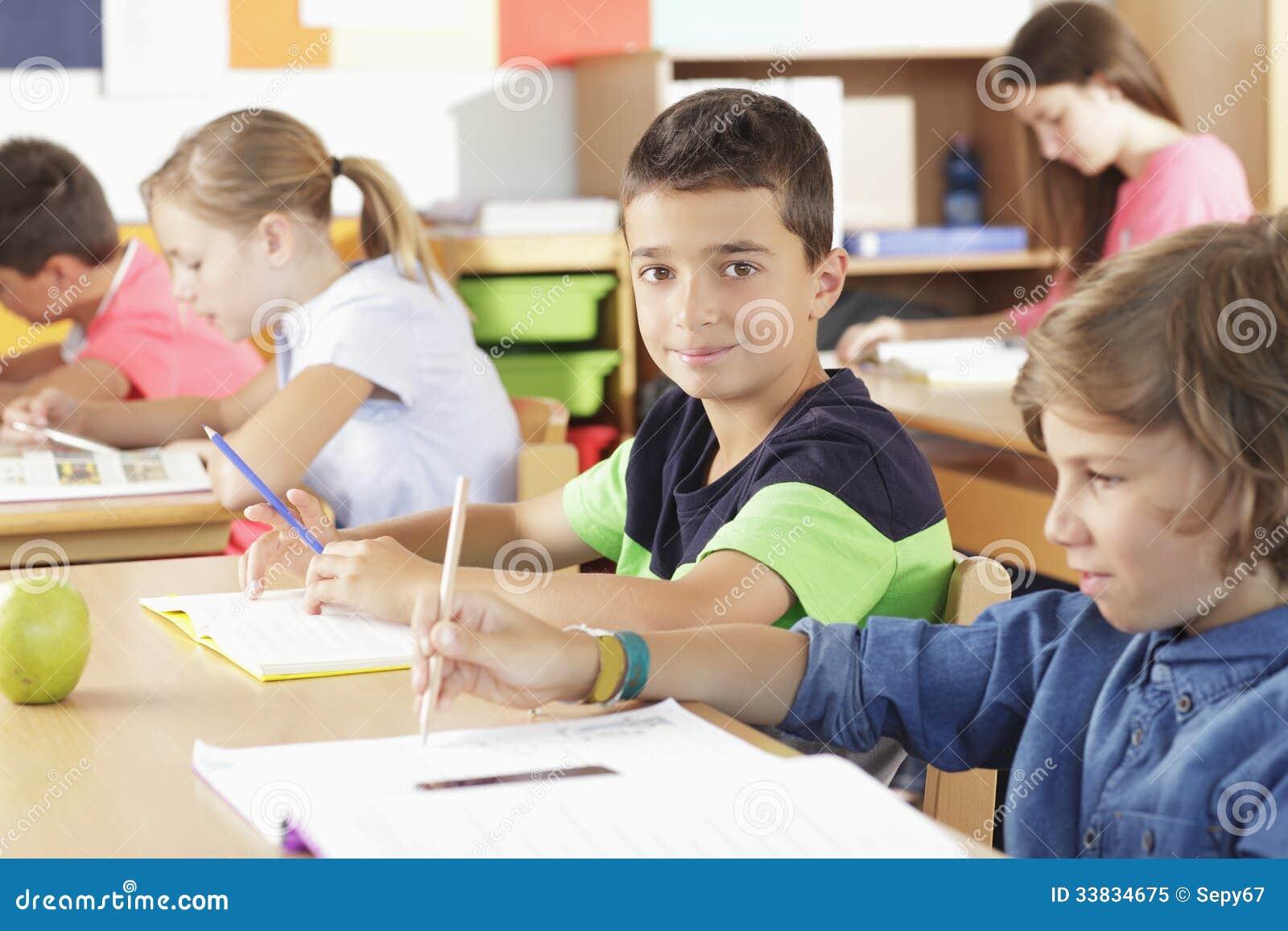 Elementary Classrooms Writing ~ Elementary school classroom royalty free stock photo