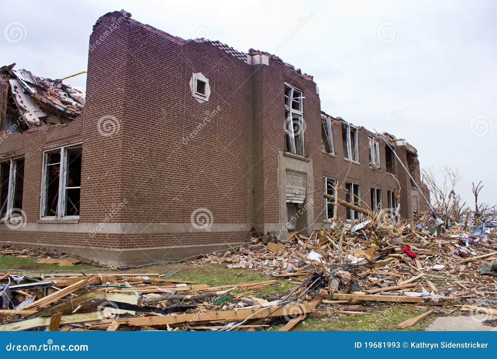 Elementary School Damaged Tornado Joplin Mo Stock Image