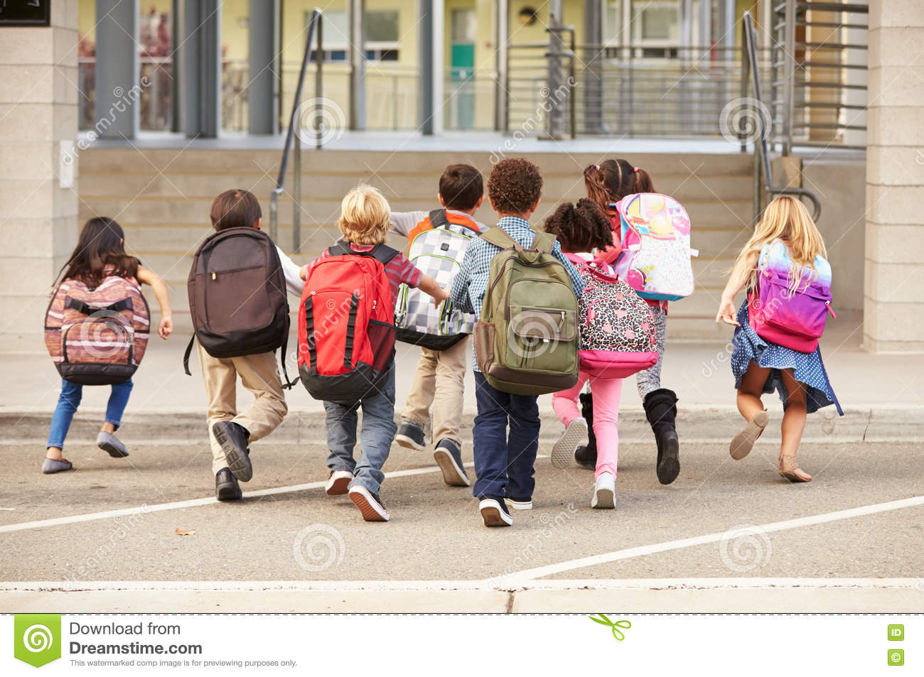 children running in school - photo #17