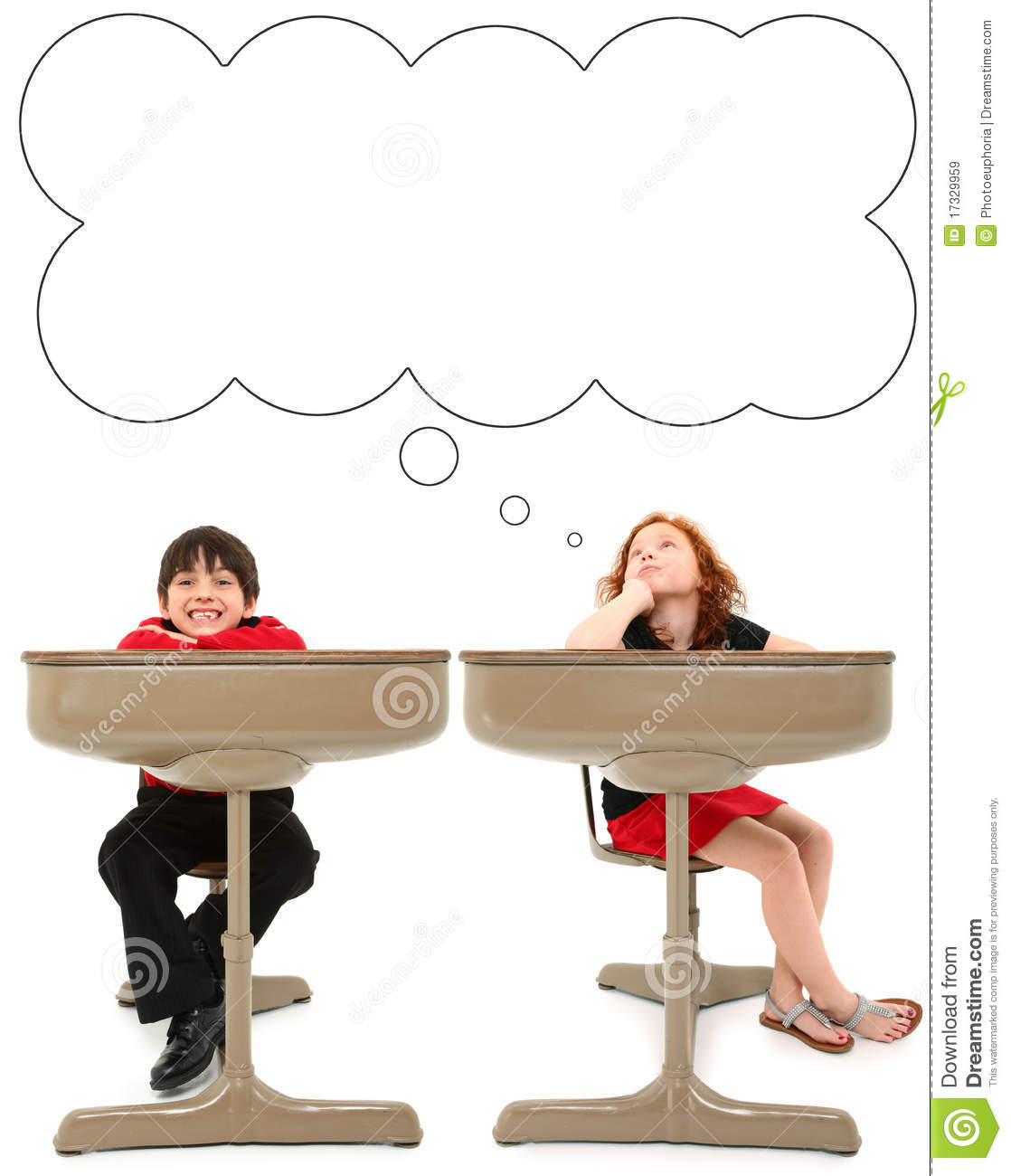 Elementary Students In Desk Stock Image Image 17329959