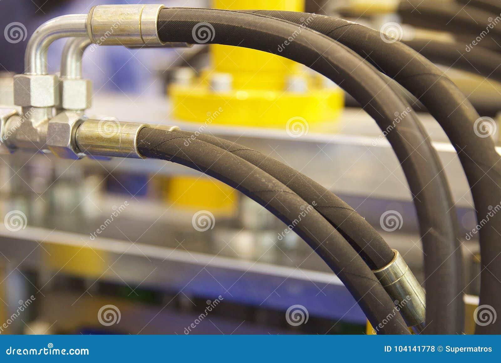 Elementen van de hydraulica en de pneumatiek van leidingenverbindingen