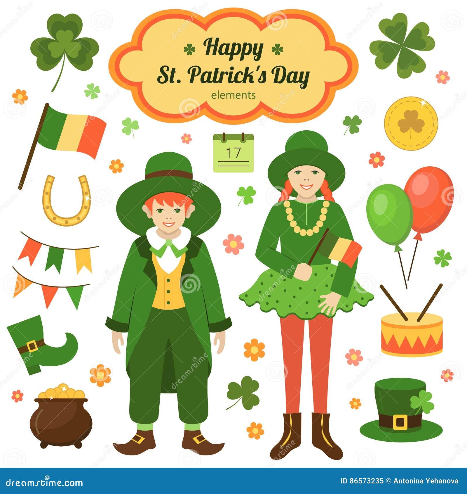 Elementen van St Patrick ` s Dag