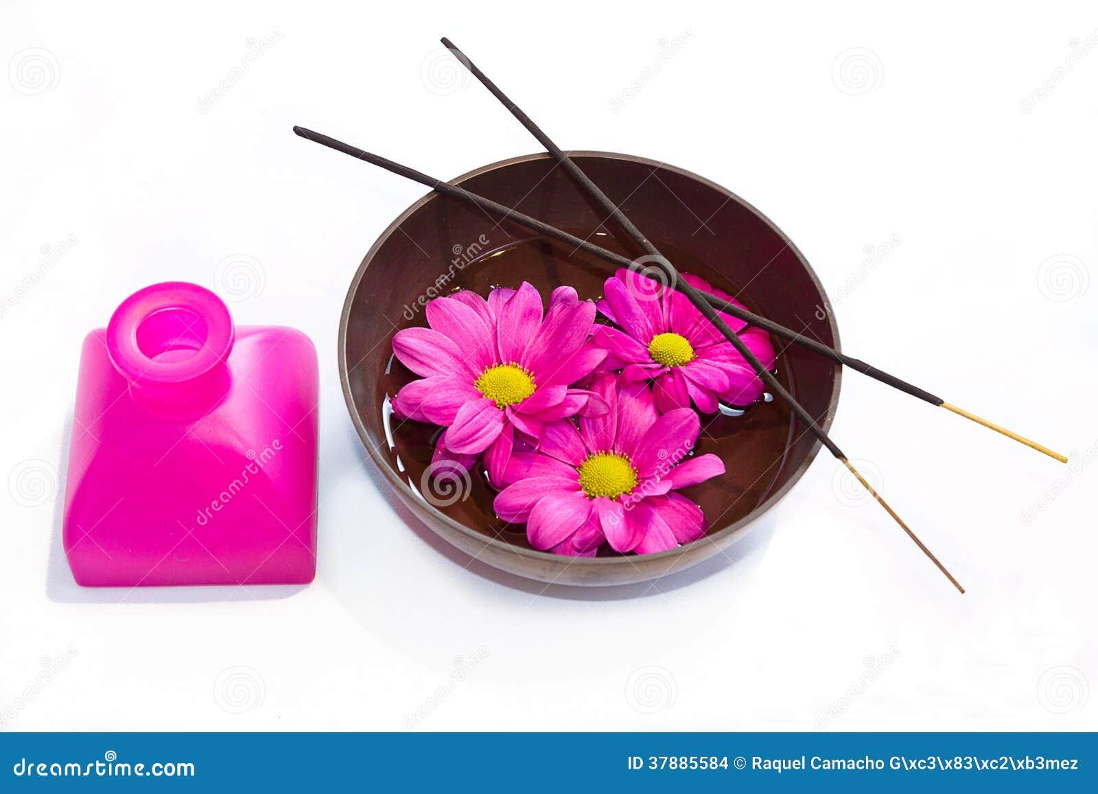 Elementen voor ayurvedic massage.