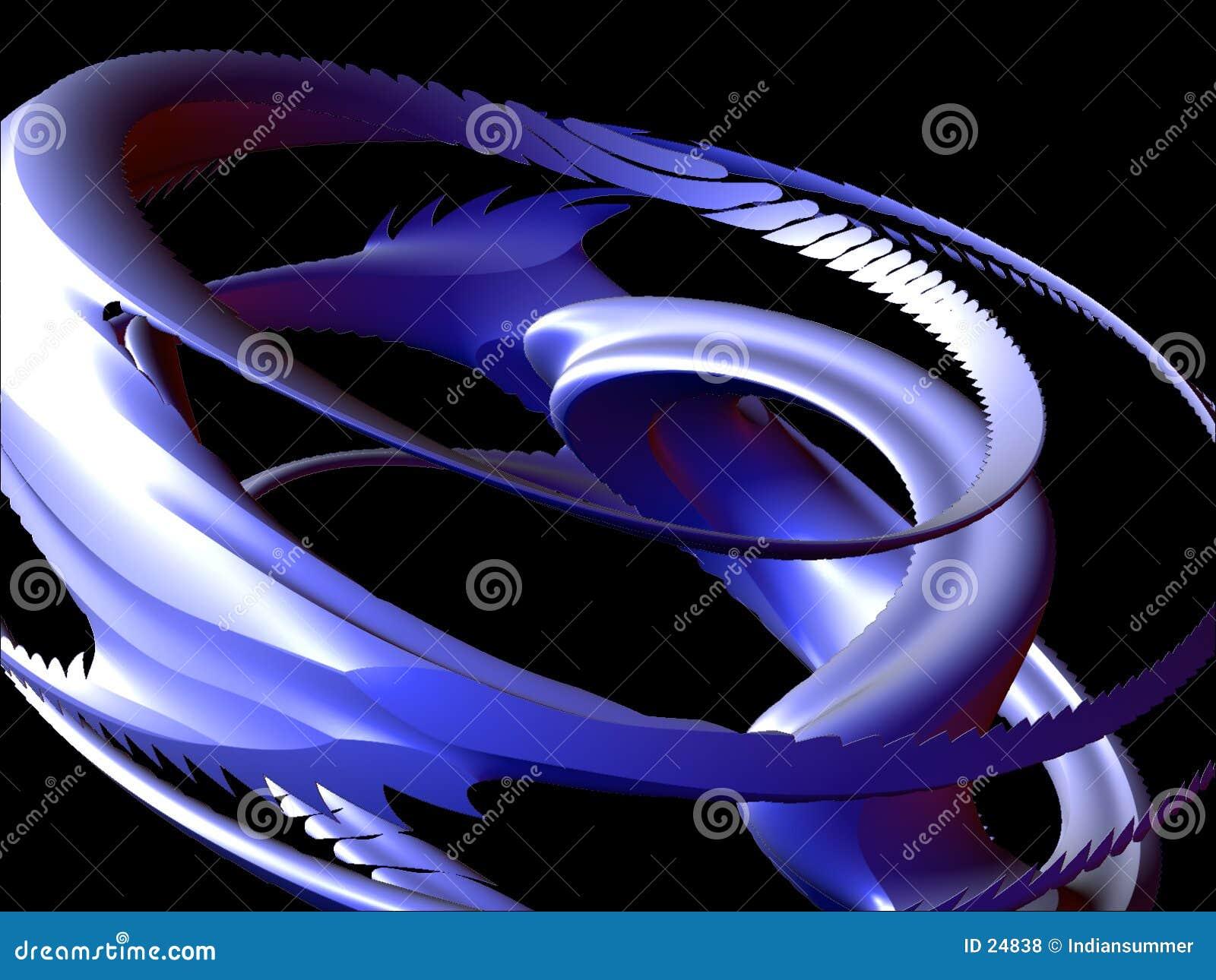Elementi astratti 3D, insieme I, particolare 2 di disegno