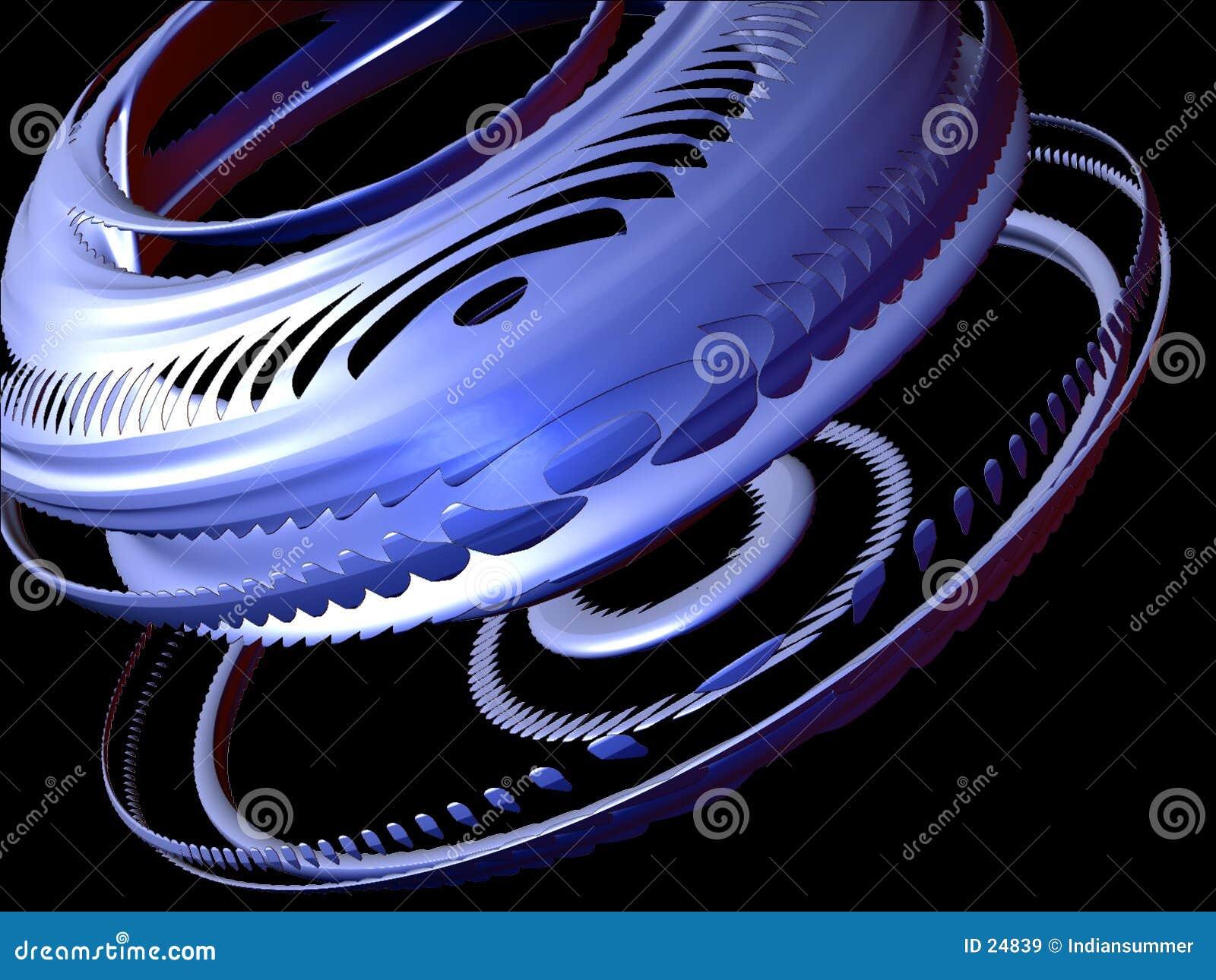 Elementi astratti 3D, insieme I, particolare 3 di disegno