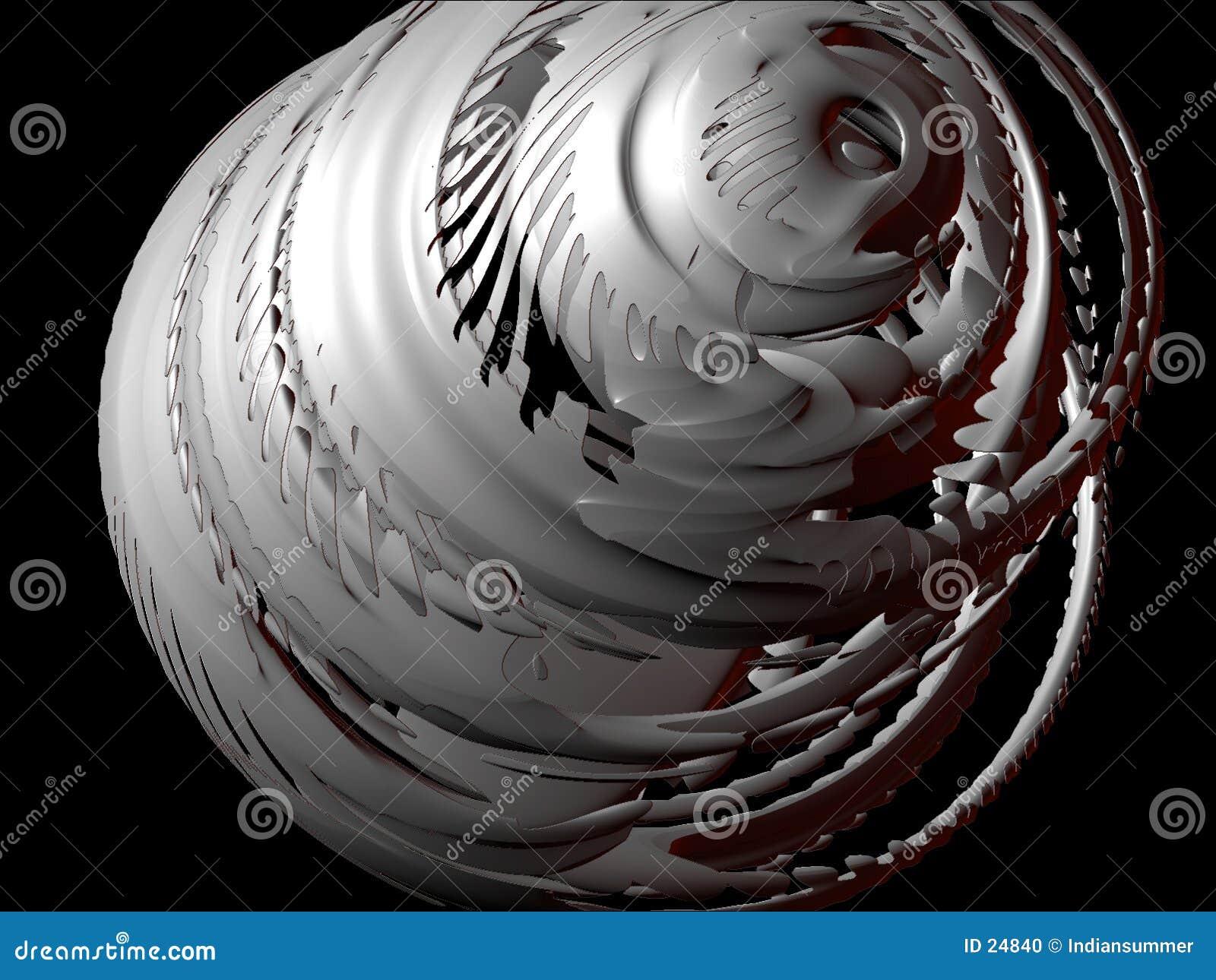 Elementi astratti 3D, insieme I, particolare 4 di disegno