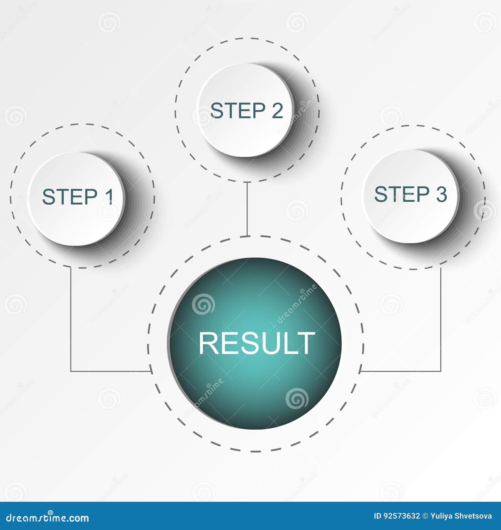Elementi astratti del grafico, del diagramma con i punti, delle opzioni, delle parti o dei processi Modello di affari di vettore