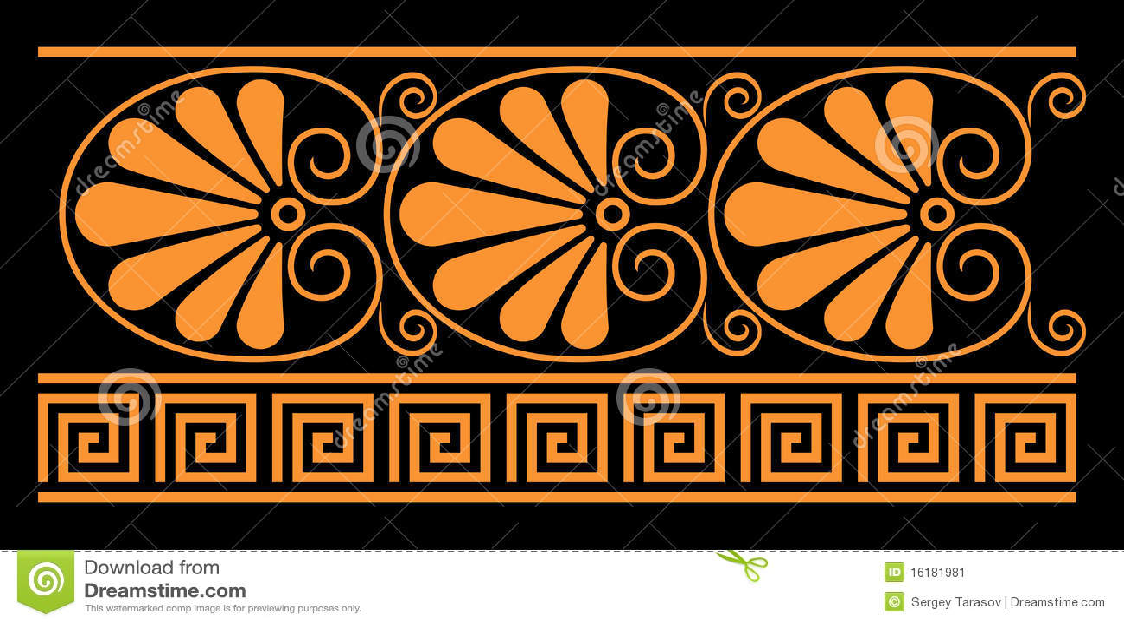 Elementi decorativi del greco antico illustrazione for Le greche decorazioni