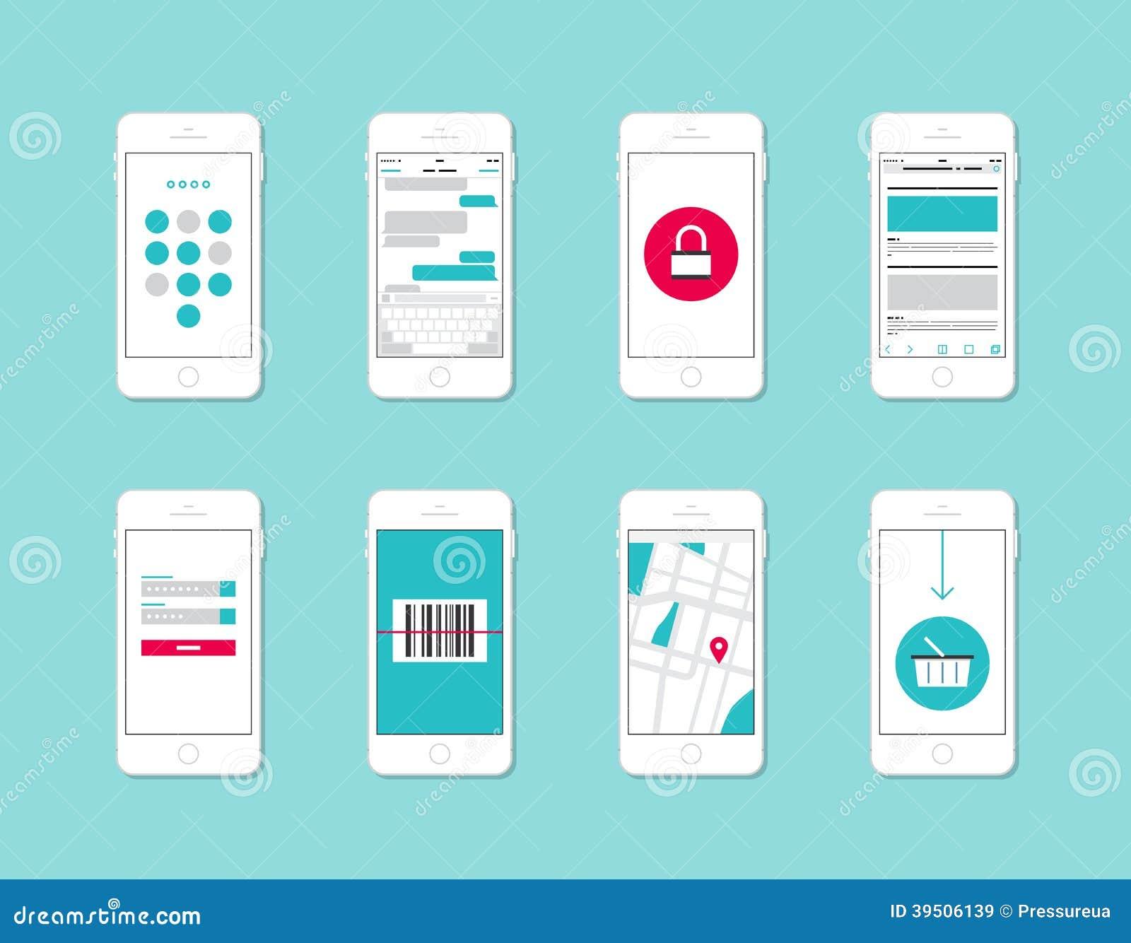 Elementi dell interfaccia di applicazione di Smartphone
