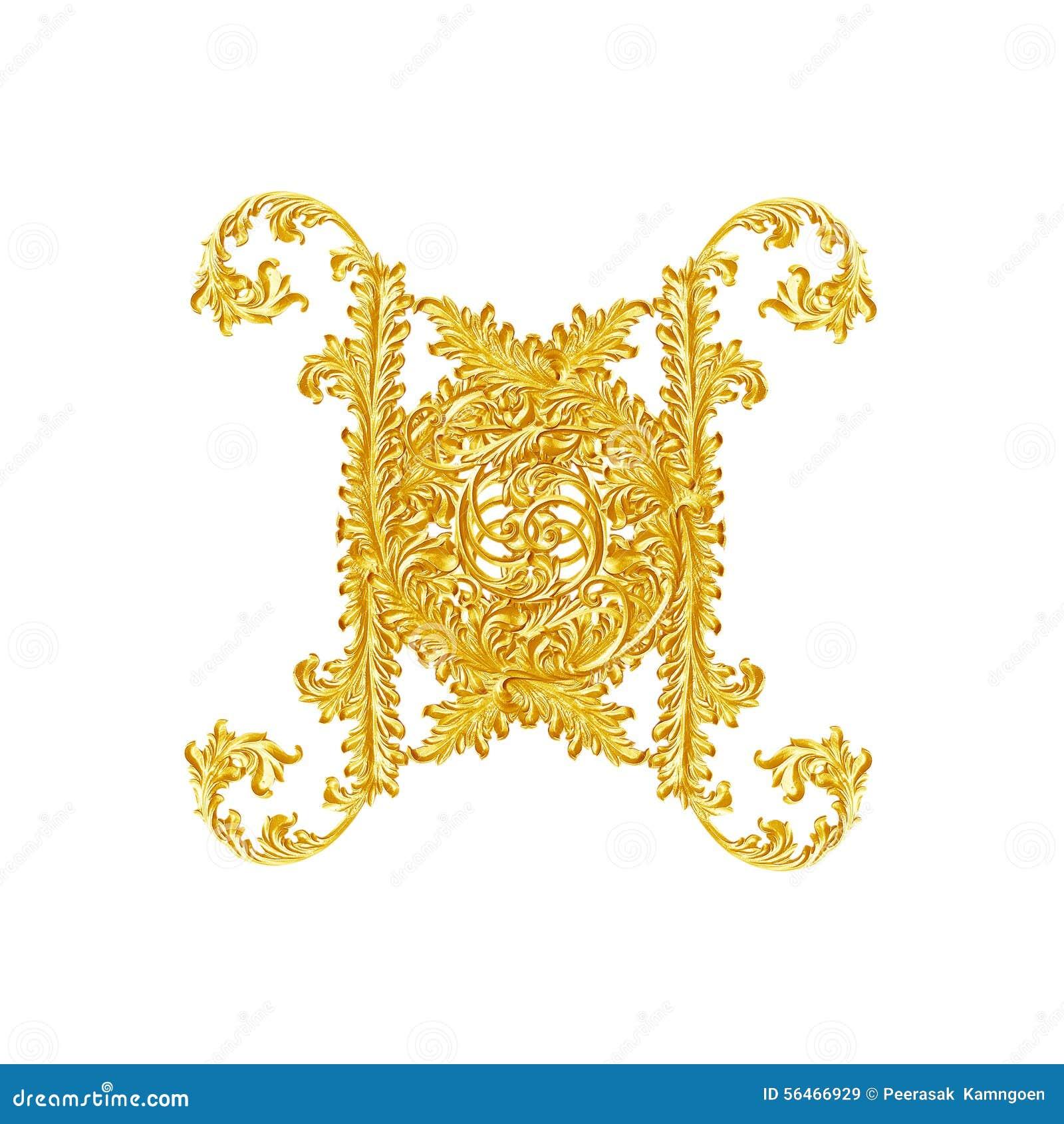 Elementi dell ornamento, progettazioni floreali dell oro d annata