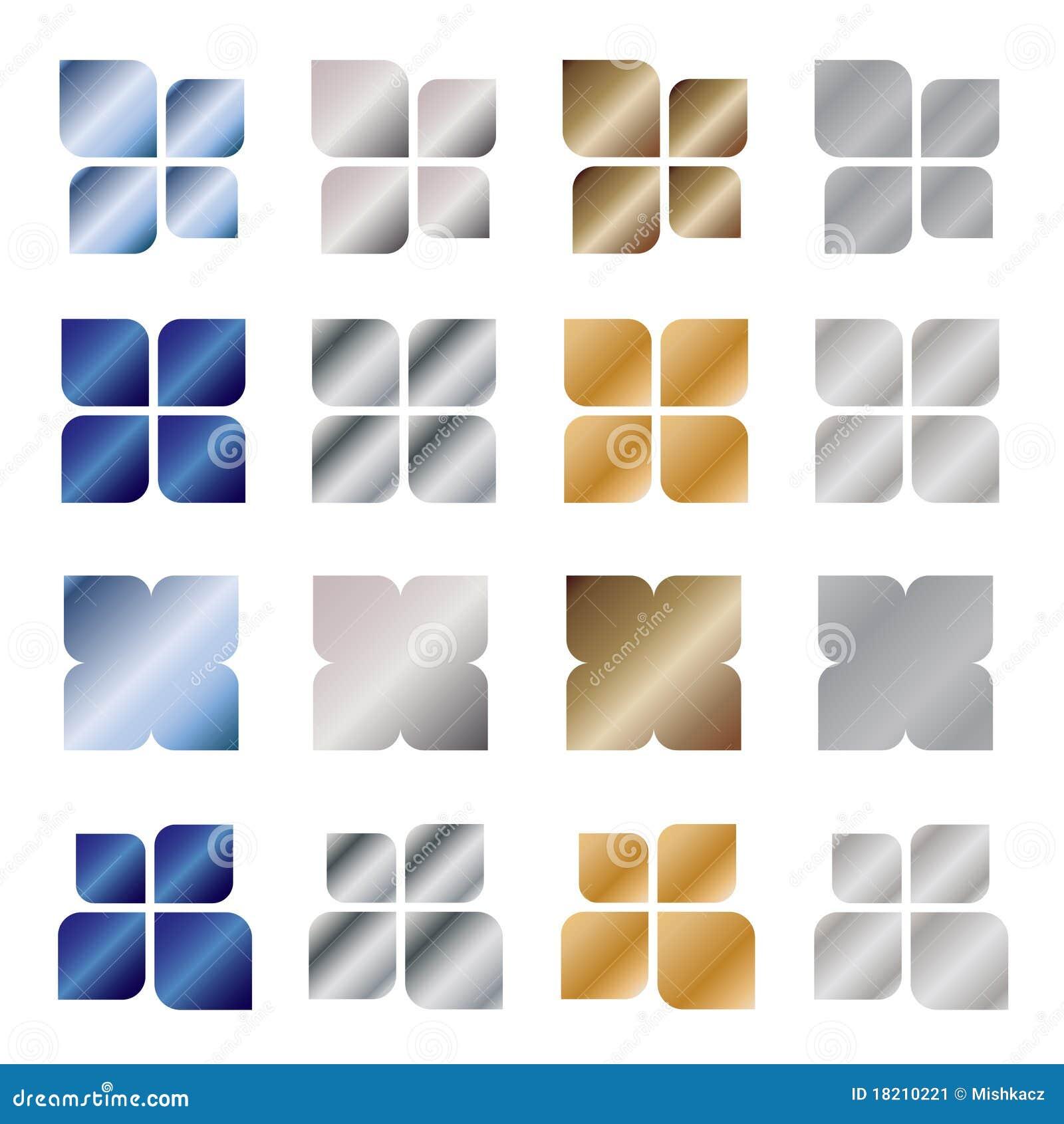 Elementi di disegno di marchio del metallo