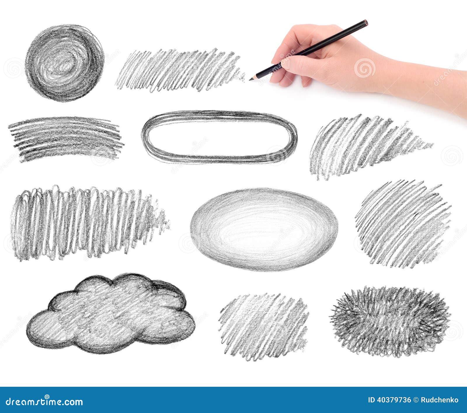 Elementi di progettazione degli scarabocchi della matita e della mano