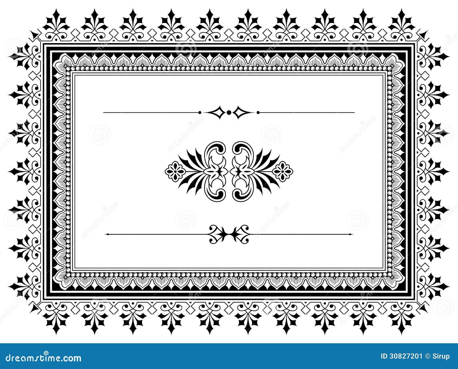 Elementi di progettazione del confine dell ornamento con i divisori