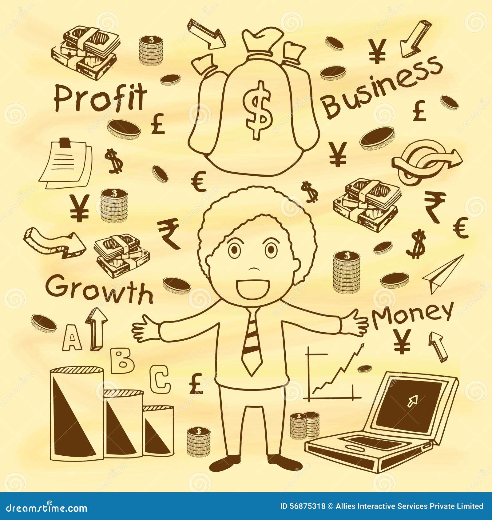 Elementi infographic di affari creativi con l uomo d affari