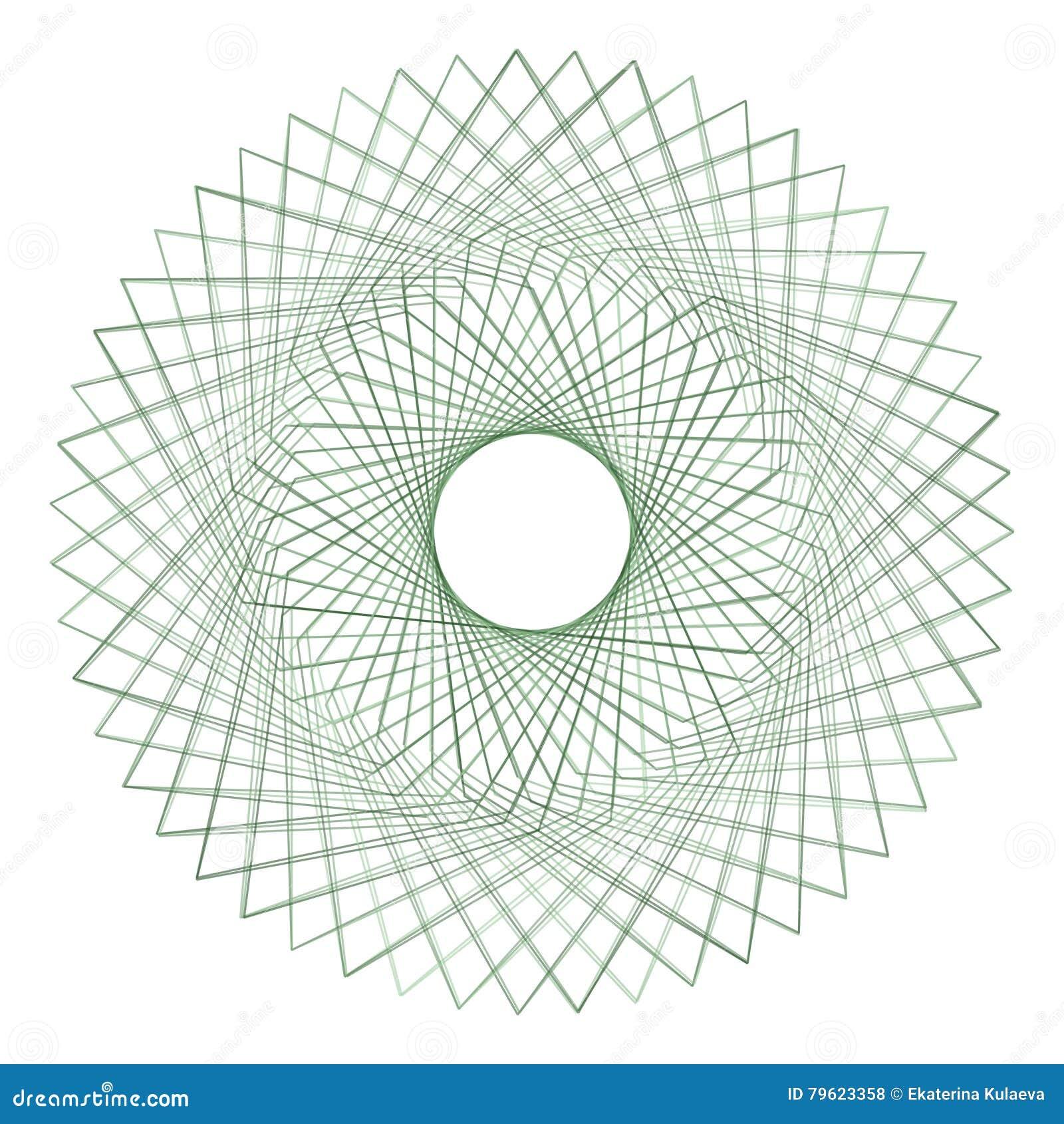 Elemento abstrato do spirograph