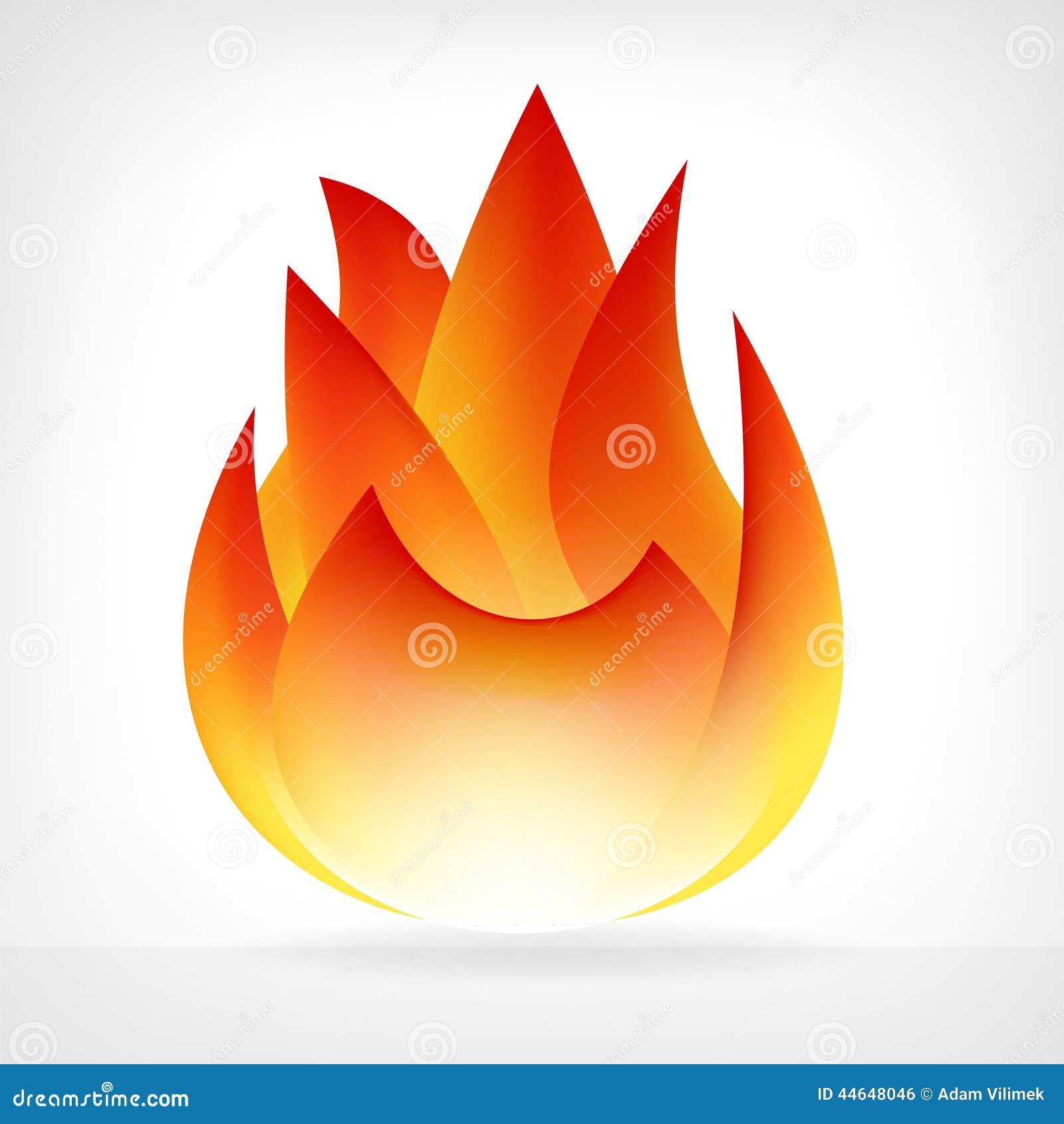 Elemento ardiente del vector de la llama del fuego