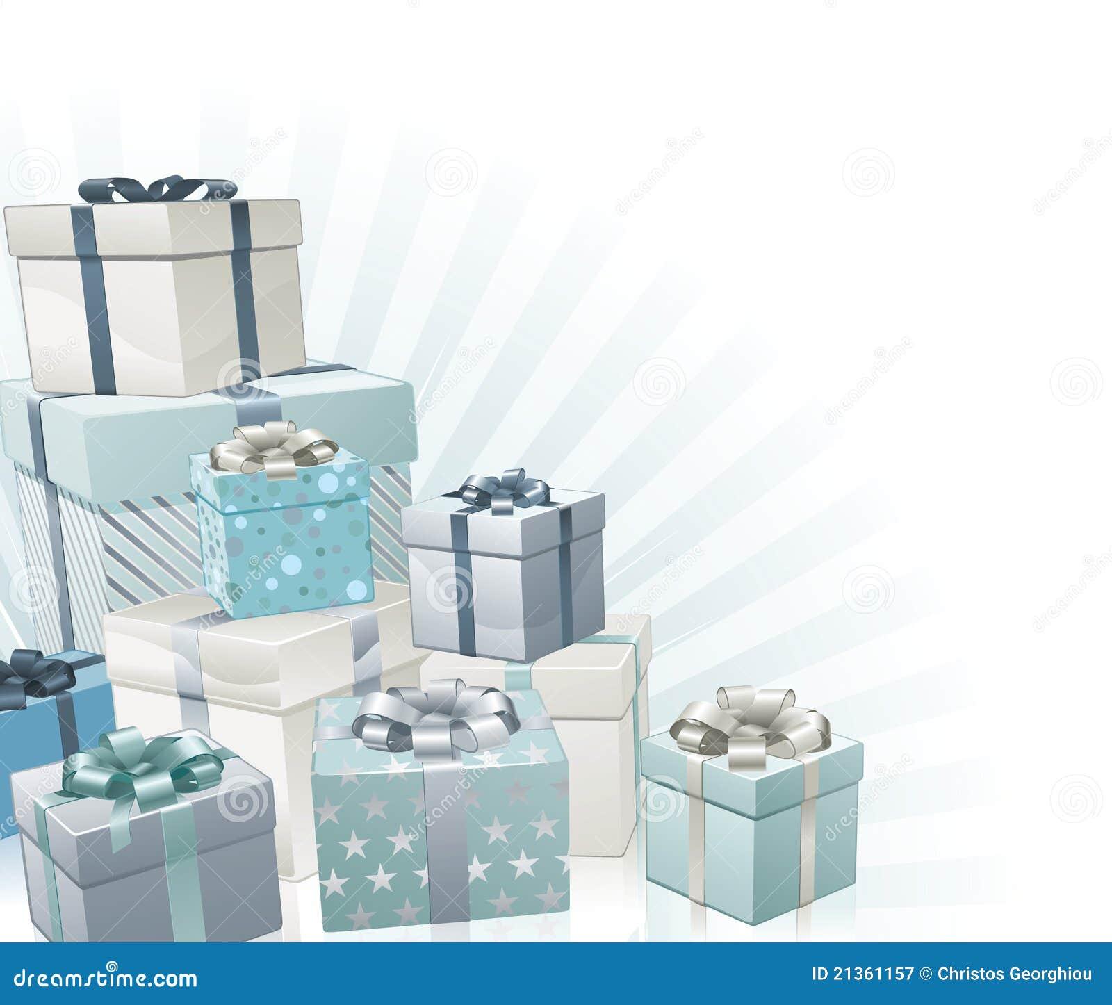 Elemento de la esquina de los regalos de la Navidad