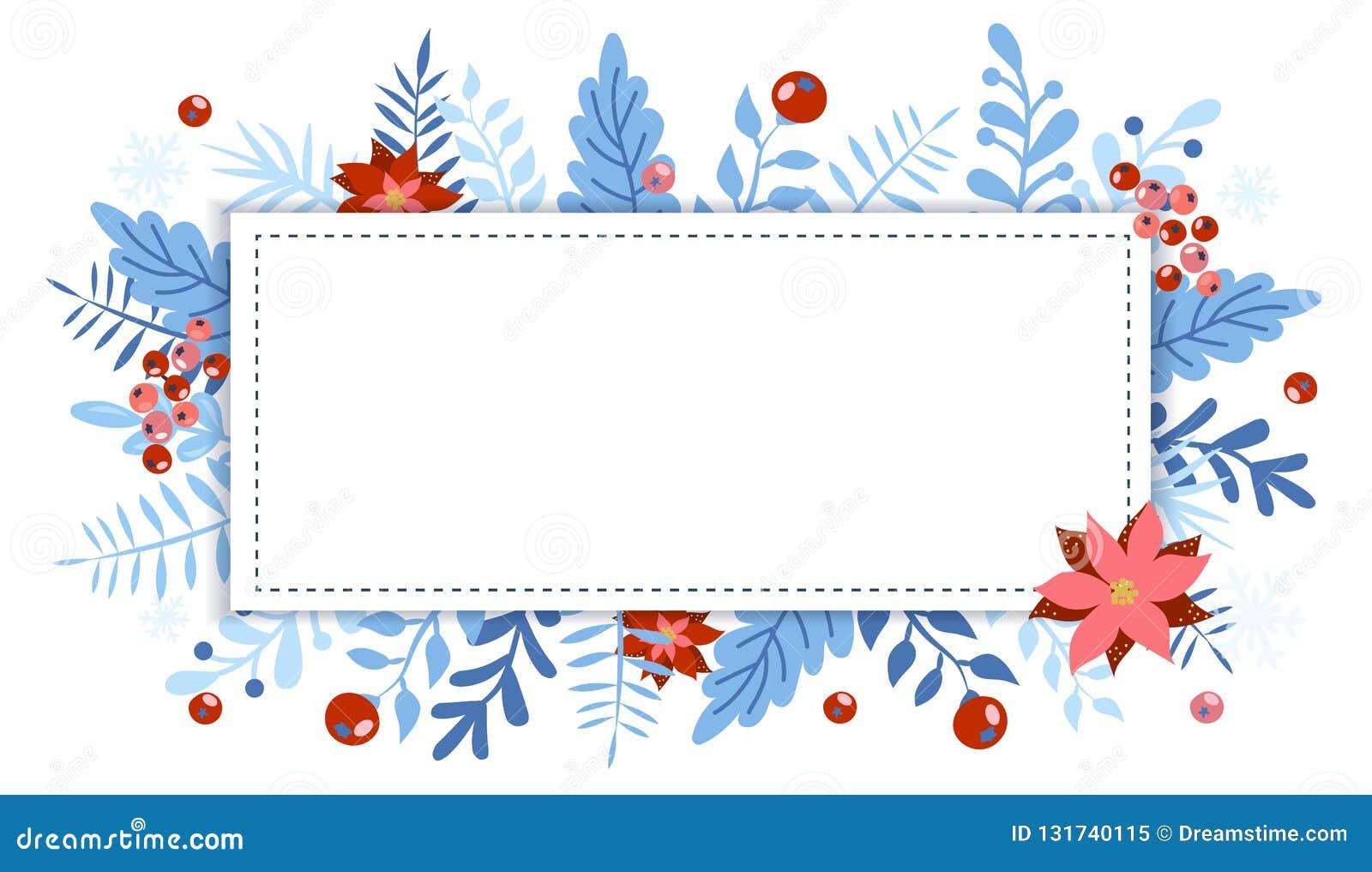 Elemento de la Navidad y del Año Nuevo, cartel para su diseño