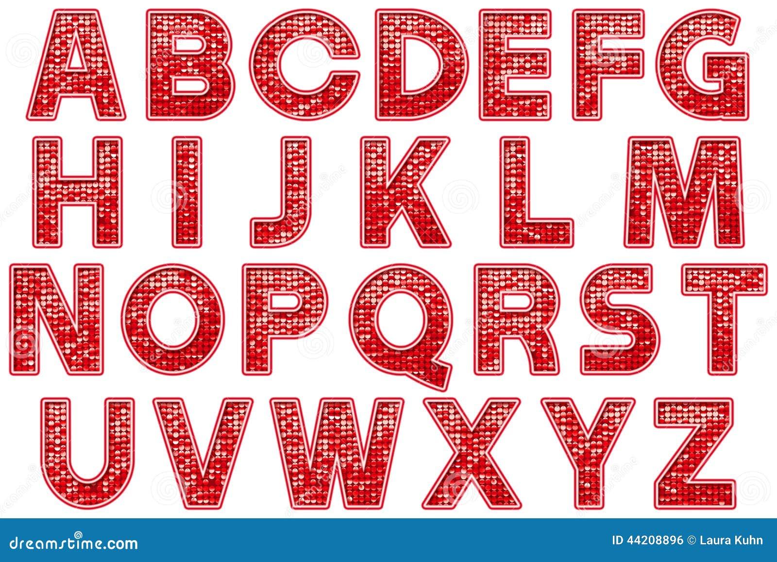 Elemento de Scrapbooking del estilo de la carpa del brillo del alfabeto de Digitaces