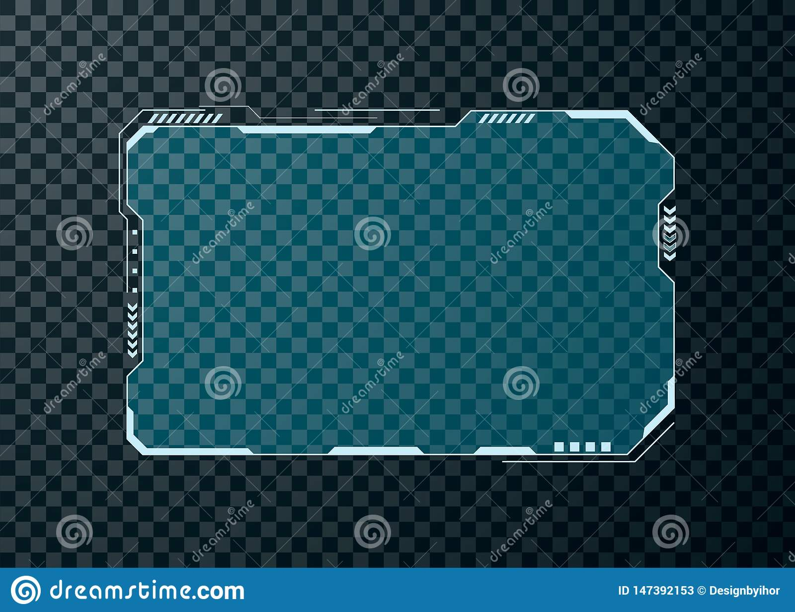 Elemento de tela futurista da interface de usuário de HUD Projeto abstrato da disposi??o do painel de controle Exposi??o virtual