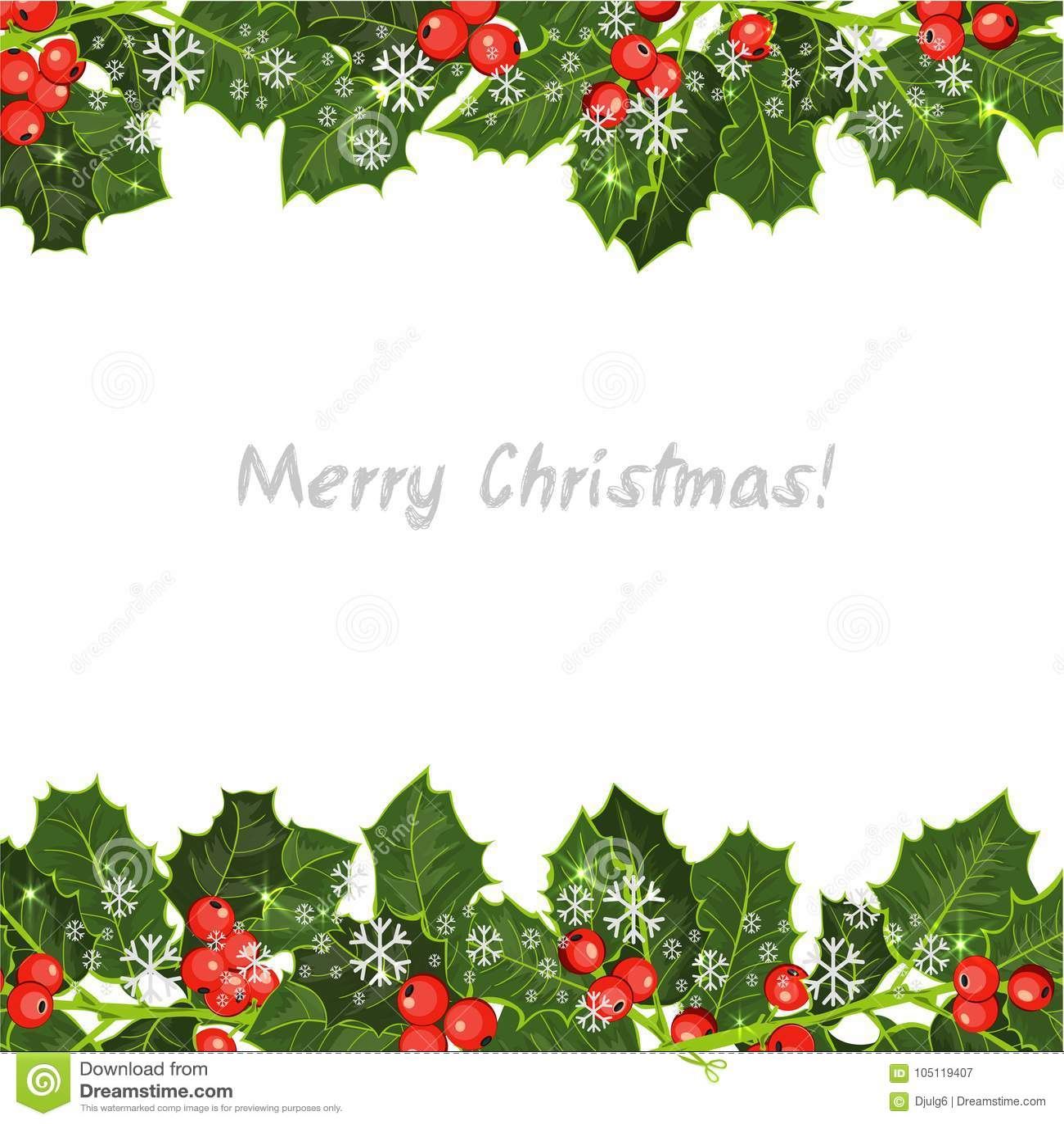Elemento decorativo con el árbol de acebo ¡Fondo de la feliz Navidad!