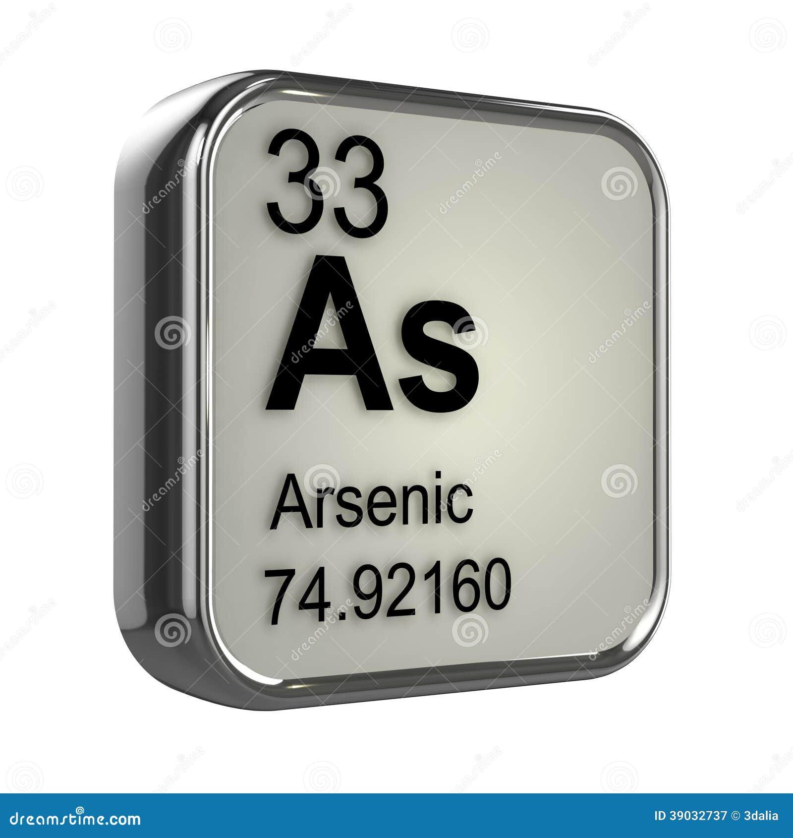 Elemento del arsénico 3d