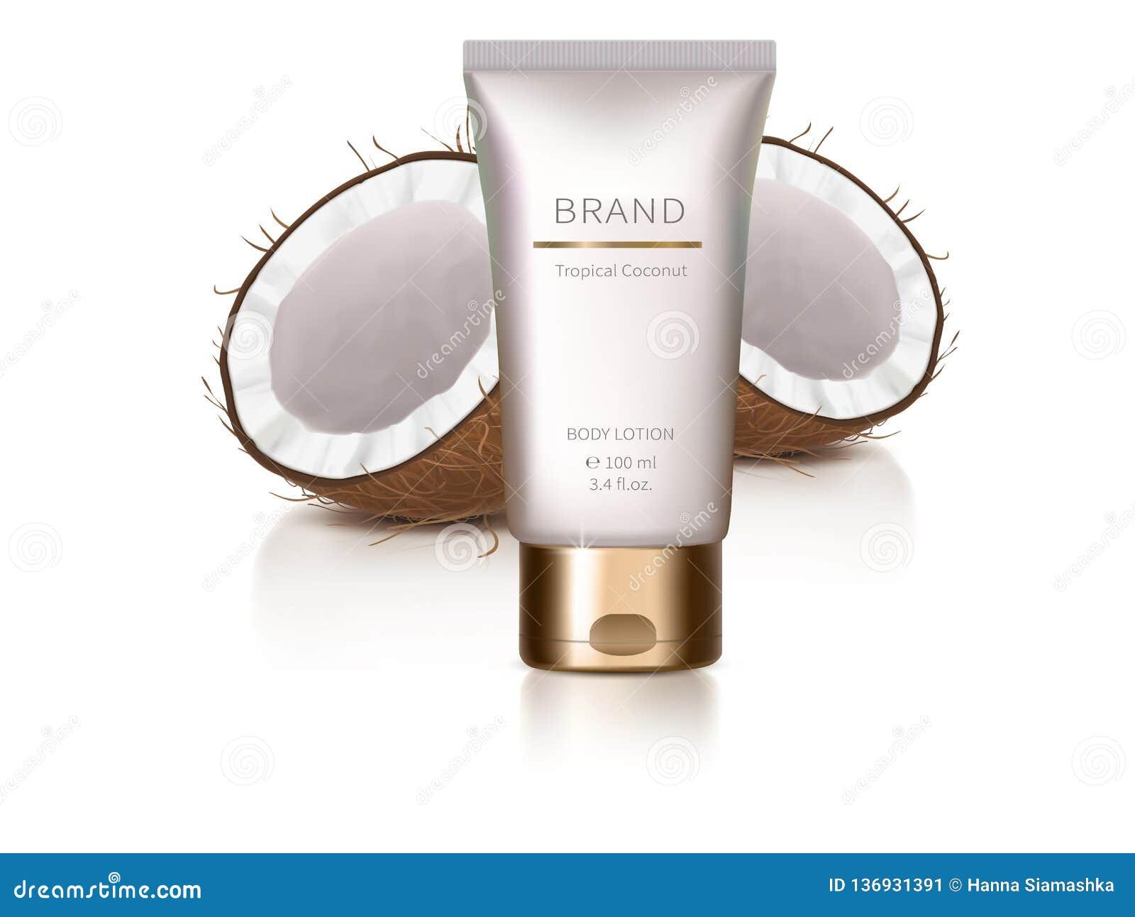 Elemento del diseño con los cosméticos orgánicos
