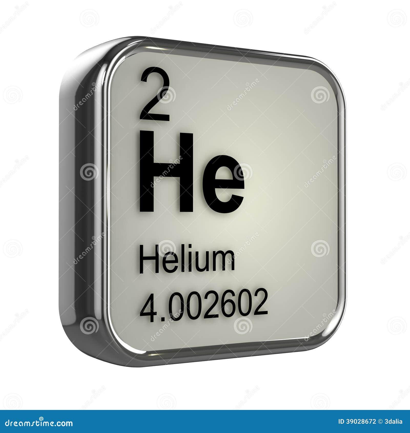Elemento Del Helio 3d Stock De Ilustraci 243 N Imagen 39028672