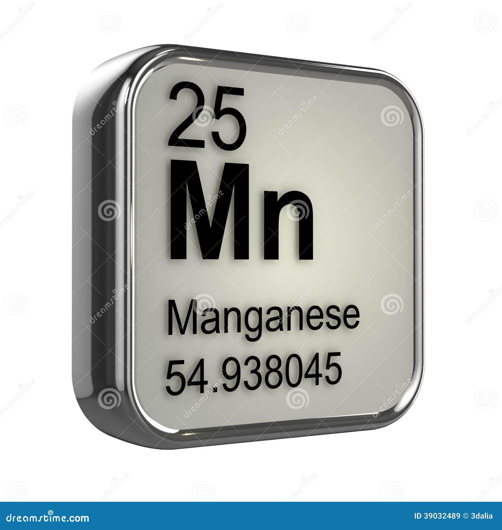 Elemento Del Manganeso 3d Stock De Ilustraci 243 N Imagen