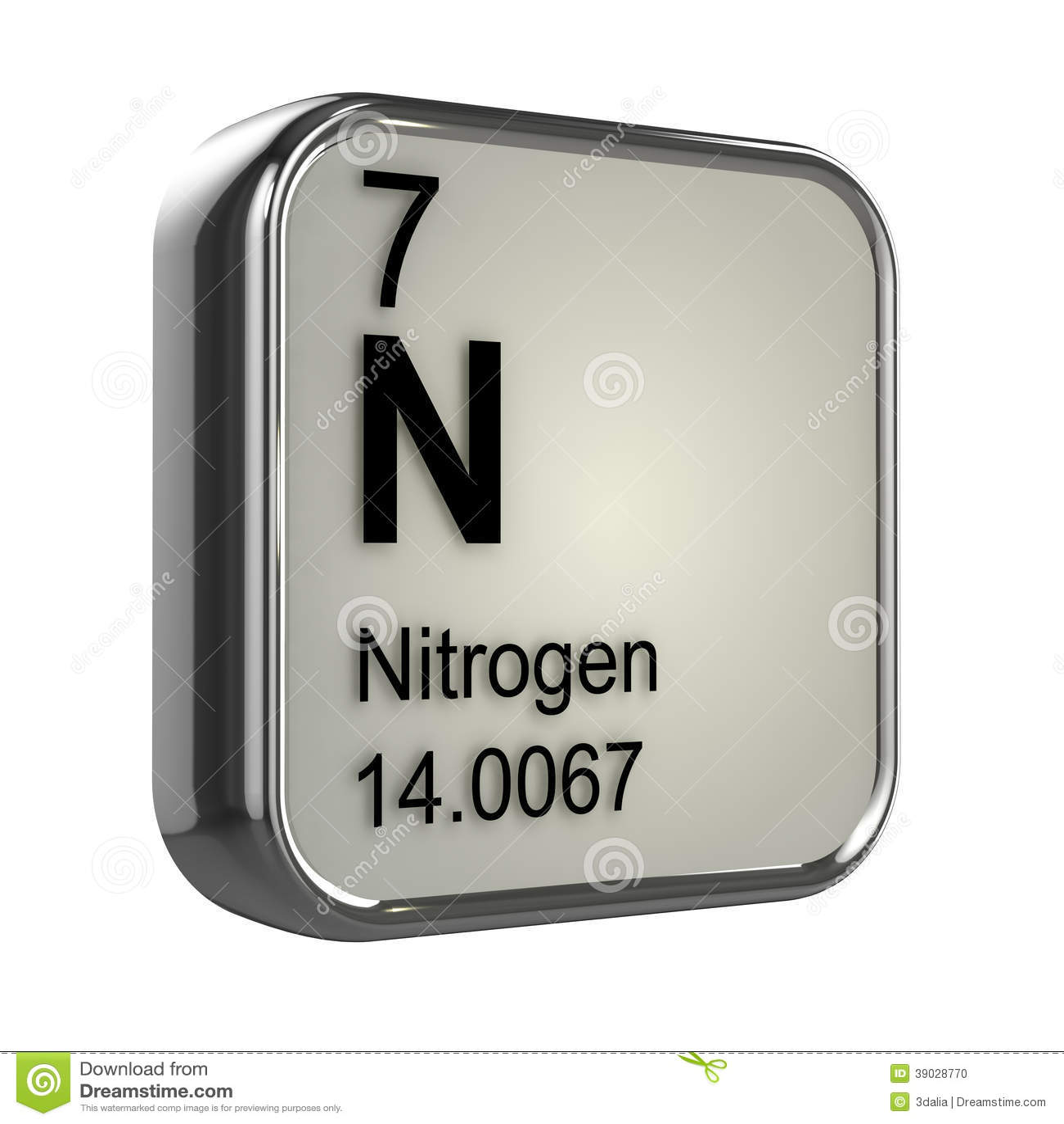Elemento del nitrgeno 3d stock de ilustracin ilustracin de elemento del nitrgeno 3d urtaz Images